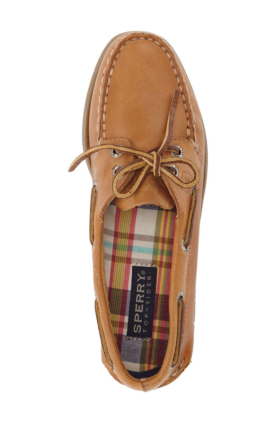 SPERRY, 'Authentic Original' Boat Shoe, Alternate thumbnail 6, color, NUTMEG/ SAHARA