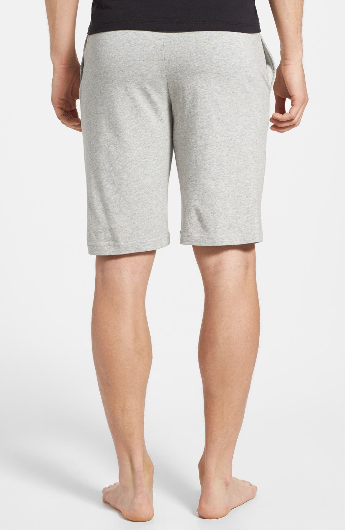POLO RALPH LAUREN, Sleep Shorts, Alternate thumbnail 2, color, ANDOVER HEATHER