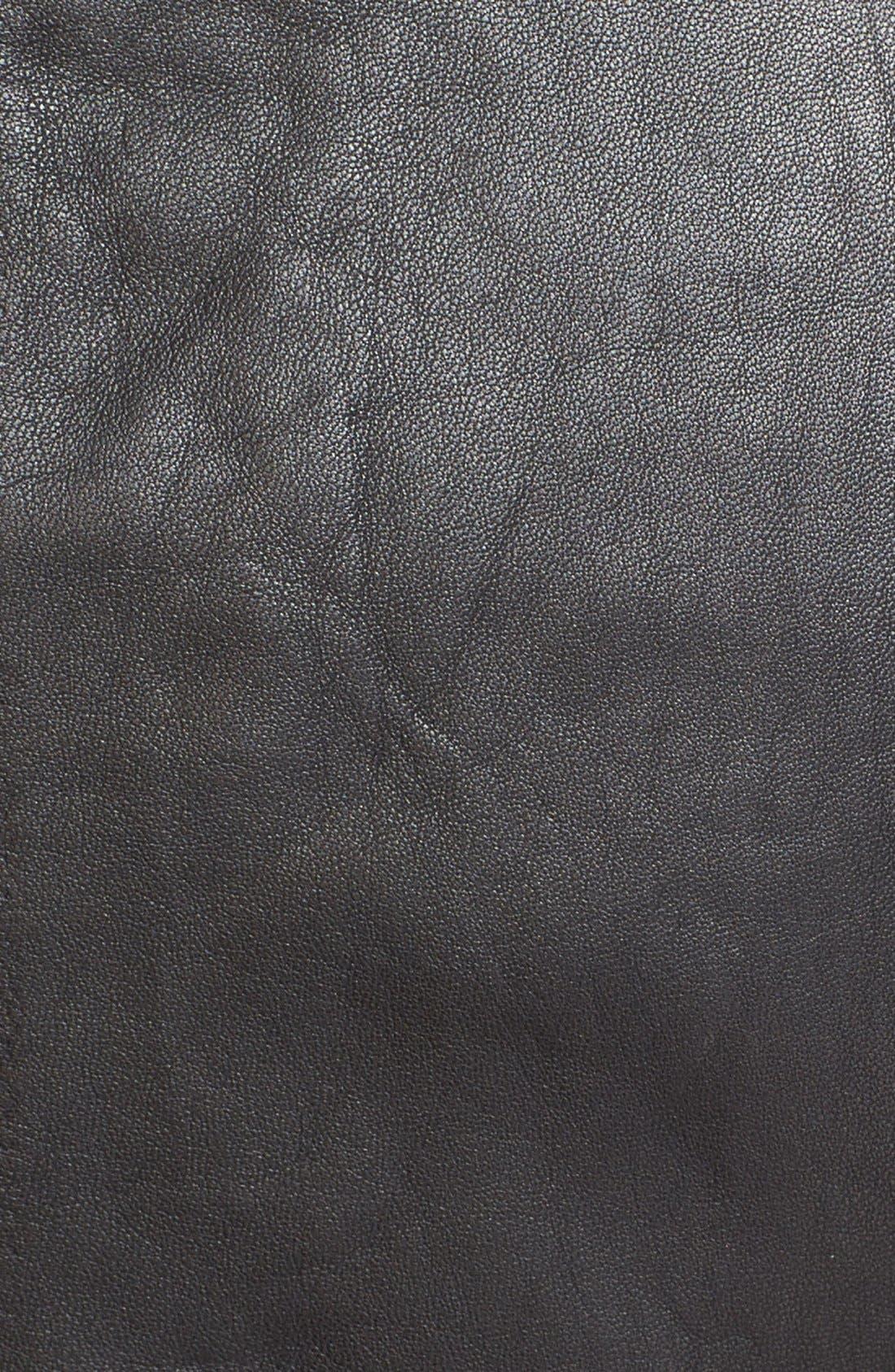 VEDA, 'Dali' Leather Jacket, Alternate thumbnail 6, color, 001