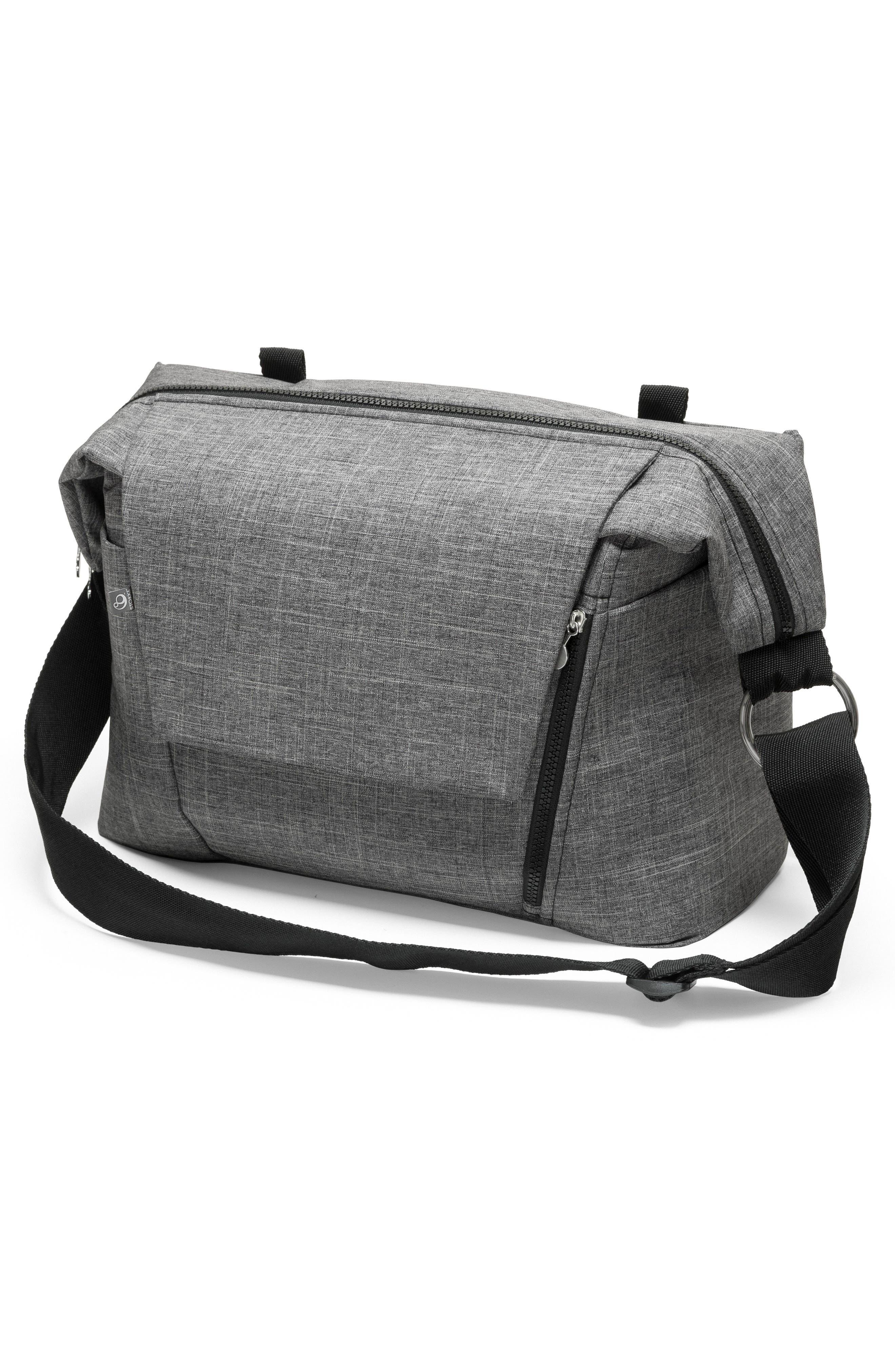 STOKKE, Changing Diaper Bag, Alternate thumbnail 4, color, BLACK MELANGE