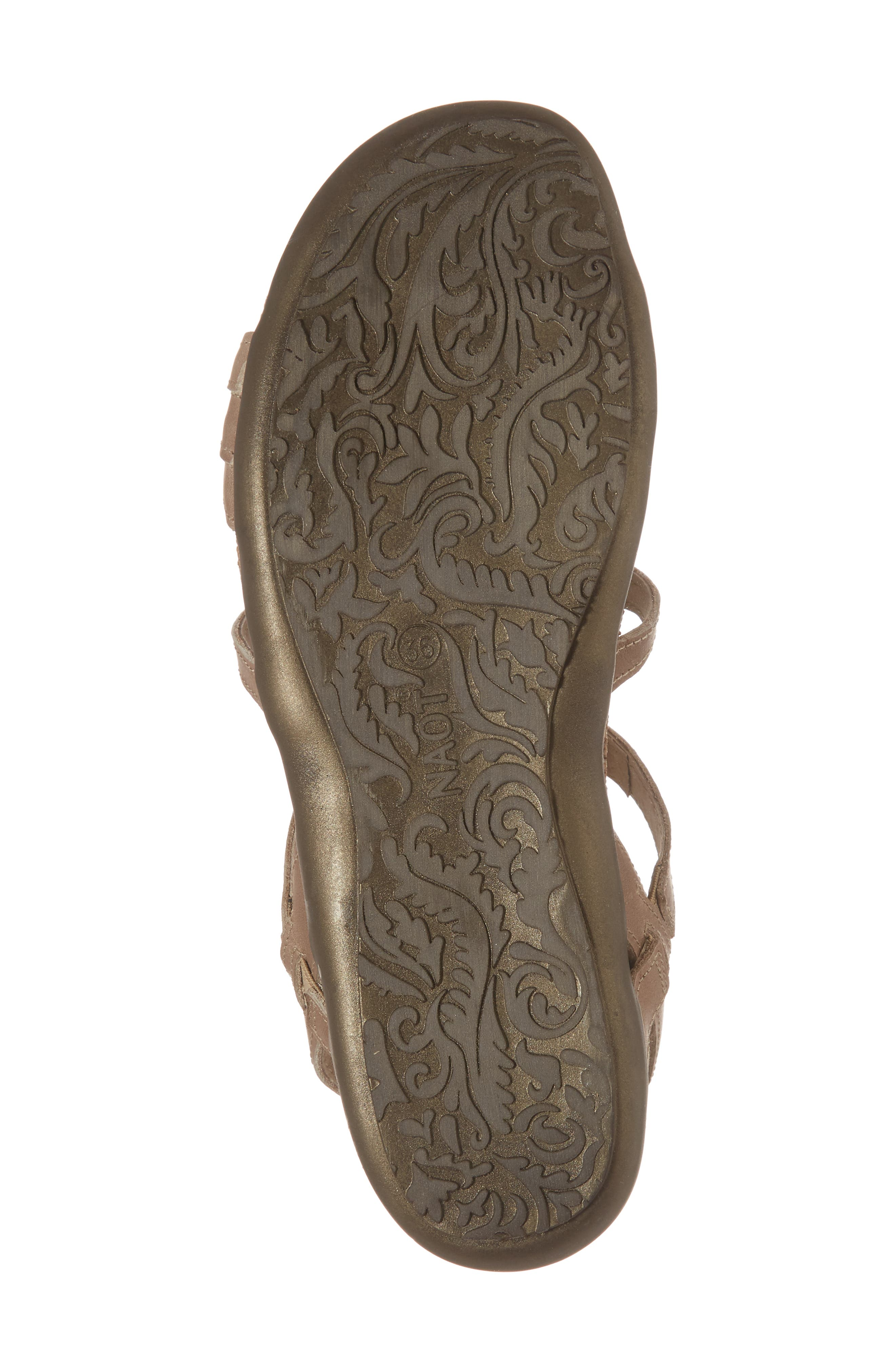 NAOT, 'Sara' Gladiator Sandal, Alternate thumbnail 6, color, KHAKI BEIGE LEATHER