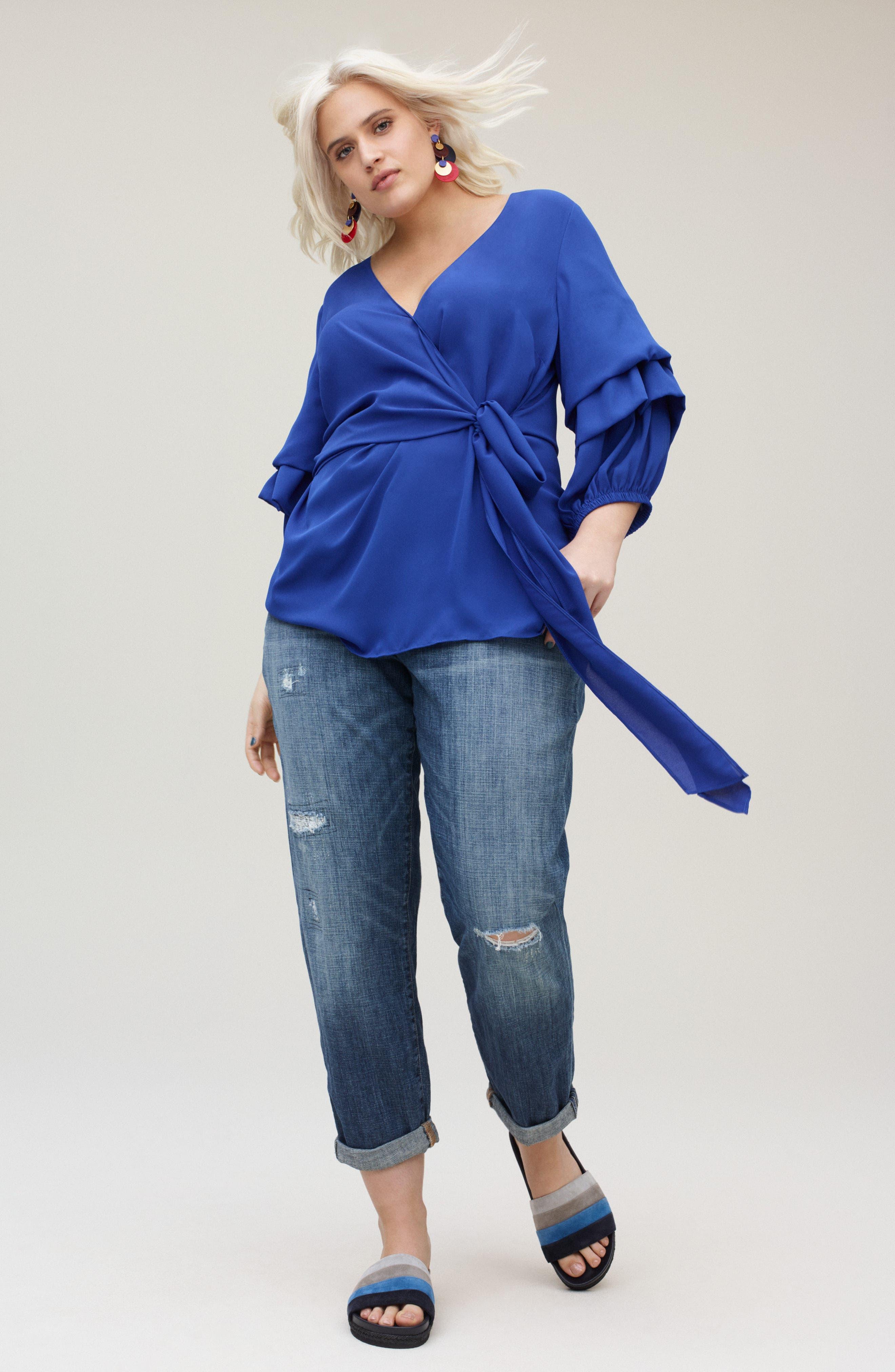 LUCKY BRAND, Emma High Rise Stretch Straight Leg Jeans, Alternate thumbnail 9, color, TIBURON