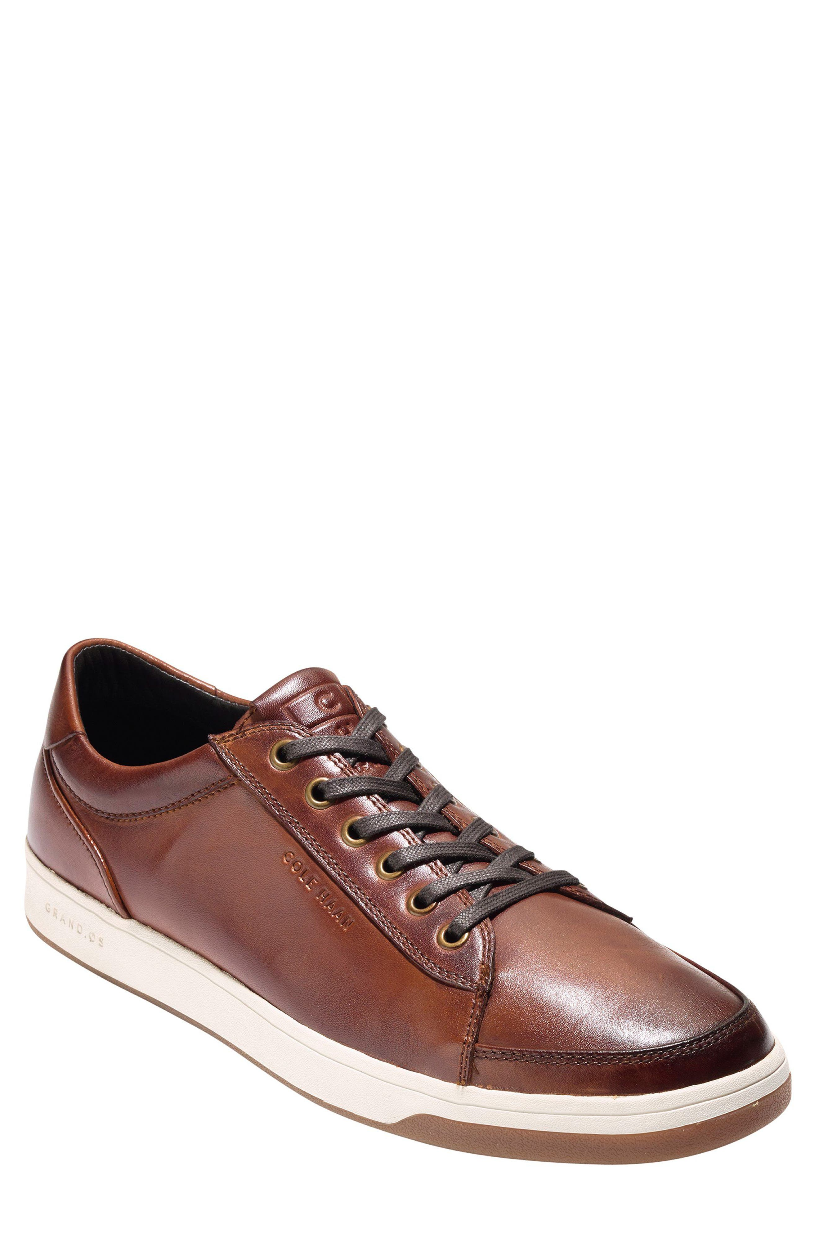 COLE HAAN, GrandPro Spectator Sneaker, Main thumbnail 1, color, WOODBURY LEATHER