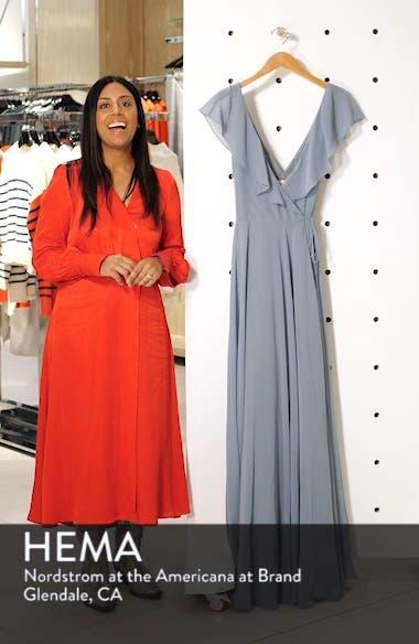 3877426498ed ... Faye Ruffle Wrap Chiffon Evening Dress, sales video thumbnail ...