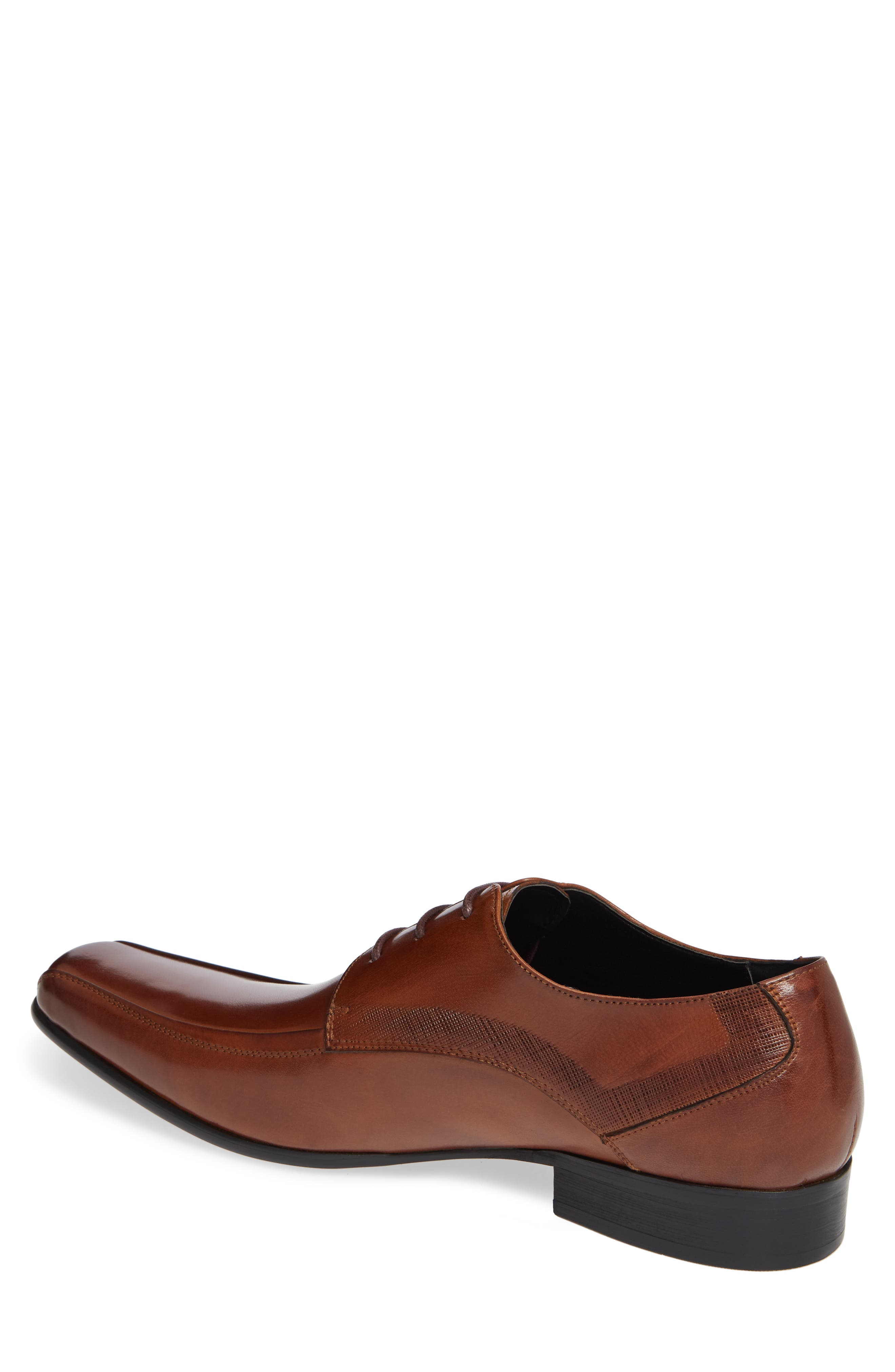 KENNETH COLE NEW YORK, Magic Place Bike Toe Derby, Alternate thumbnail 2, color, COGNAC LEATHER