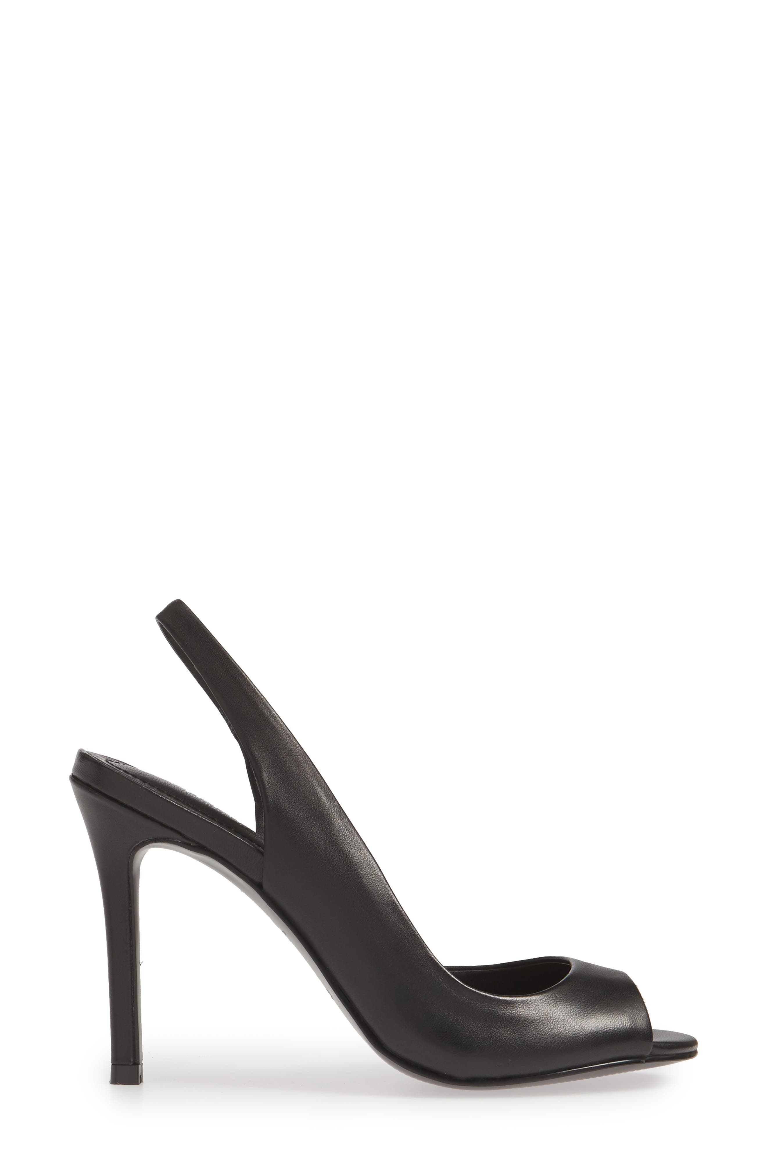 CHARLES BY CHARLES DAVID, Rexx Sandal, Alternate thumbnail 3, color, BLACK LEATHER