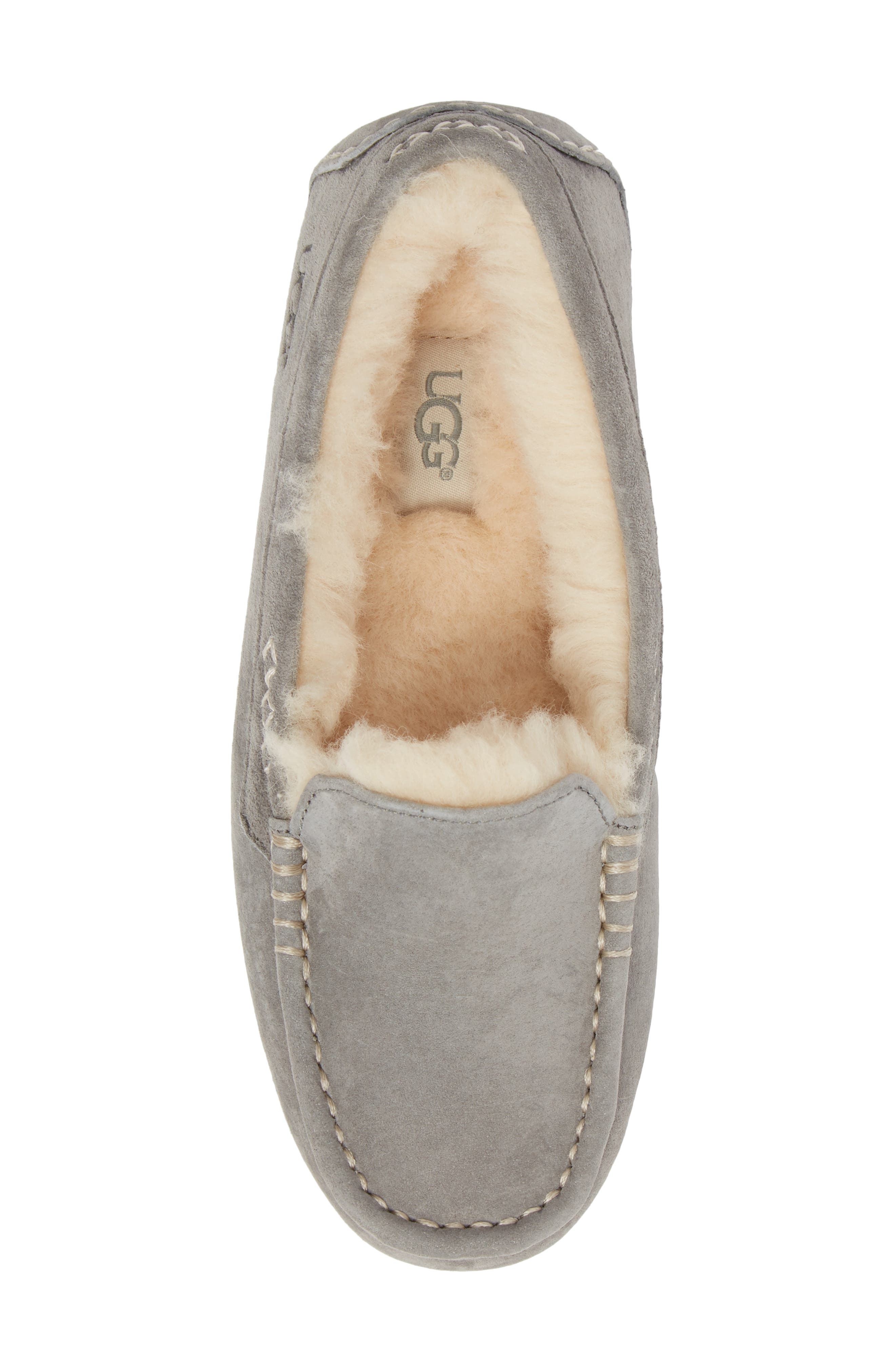 UGG<SUP>®</SUP>, Ansley Water Resistant Slipper, Alternate thumbnail 5, color, LIGHT GREY