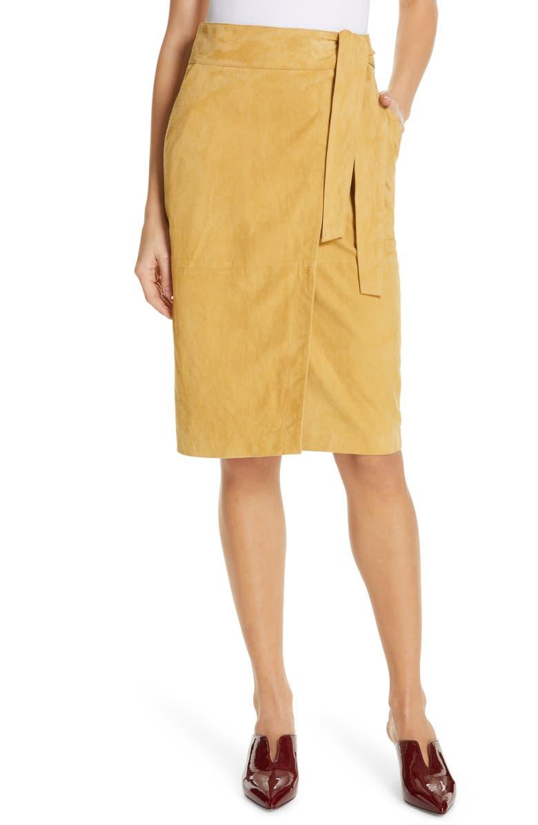 Ba&sh Skirts MALICA SUEDE WRAP SKIRT