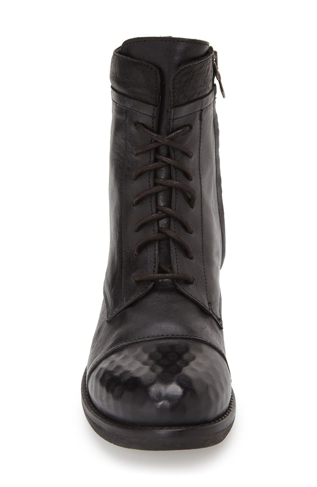 KBR, Lace-Up Boot, Alternate thumbnail 3, color, 001