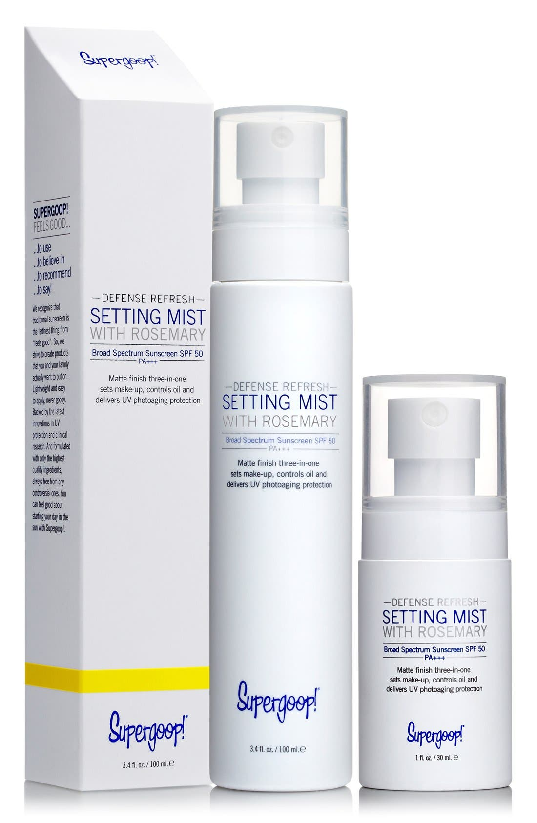 SUPERGOOP!<SUP>®</SUP>, Supergoop! Defense Refresh Setting Mist with Rosemary SPF 50, Alternate thumbnail 4, color, 000