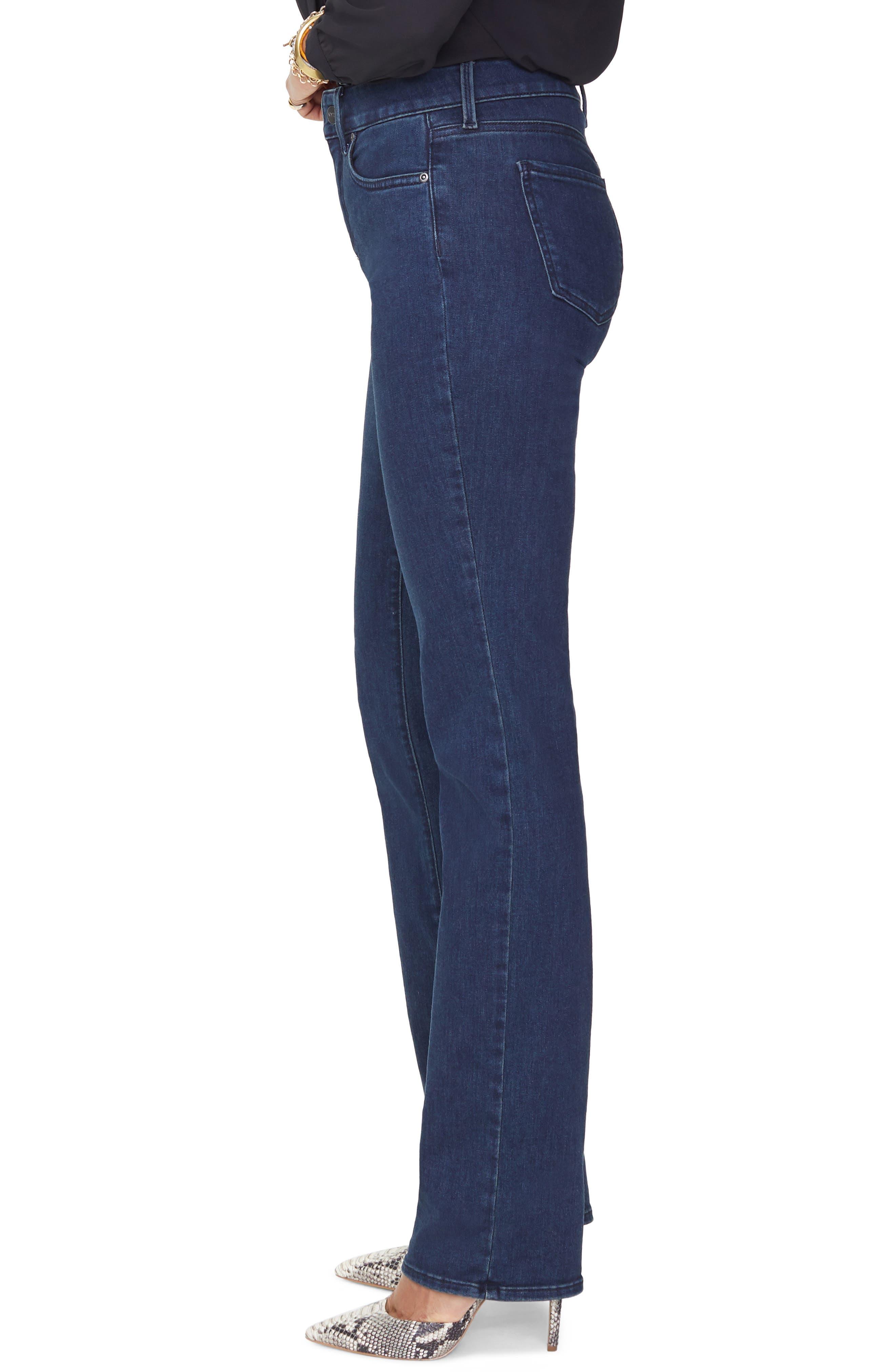 NYDJ, Marilyn Stretch Straight Leg Jeans, Alternate thumbnail 4, color, 405