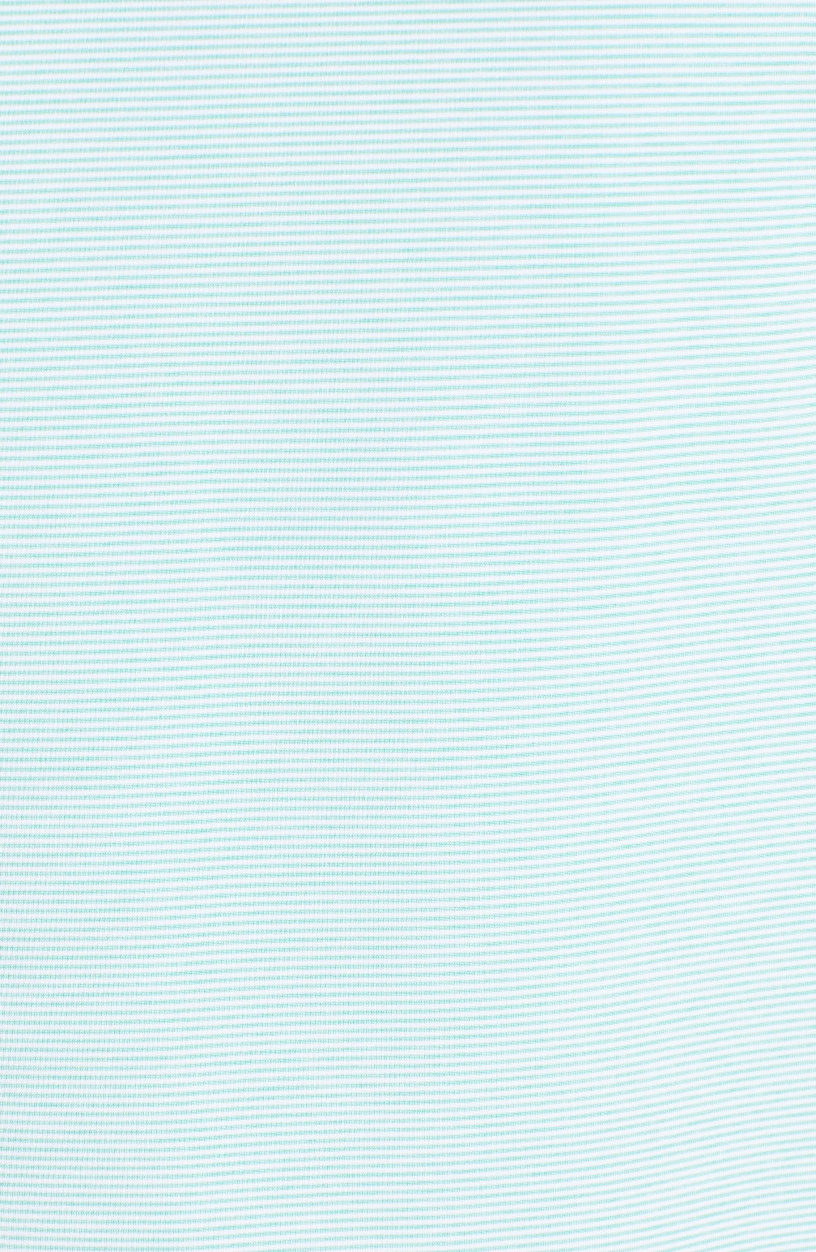 PETER MILLAR, Jubilee Stripe Jersey Polo, Alternate thumbnail 5, color, MEADOW