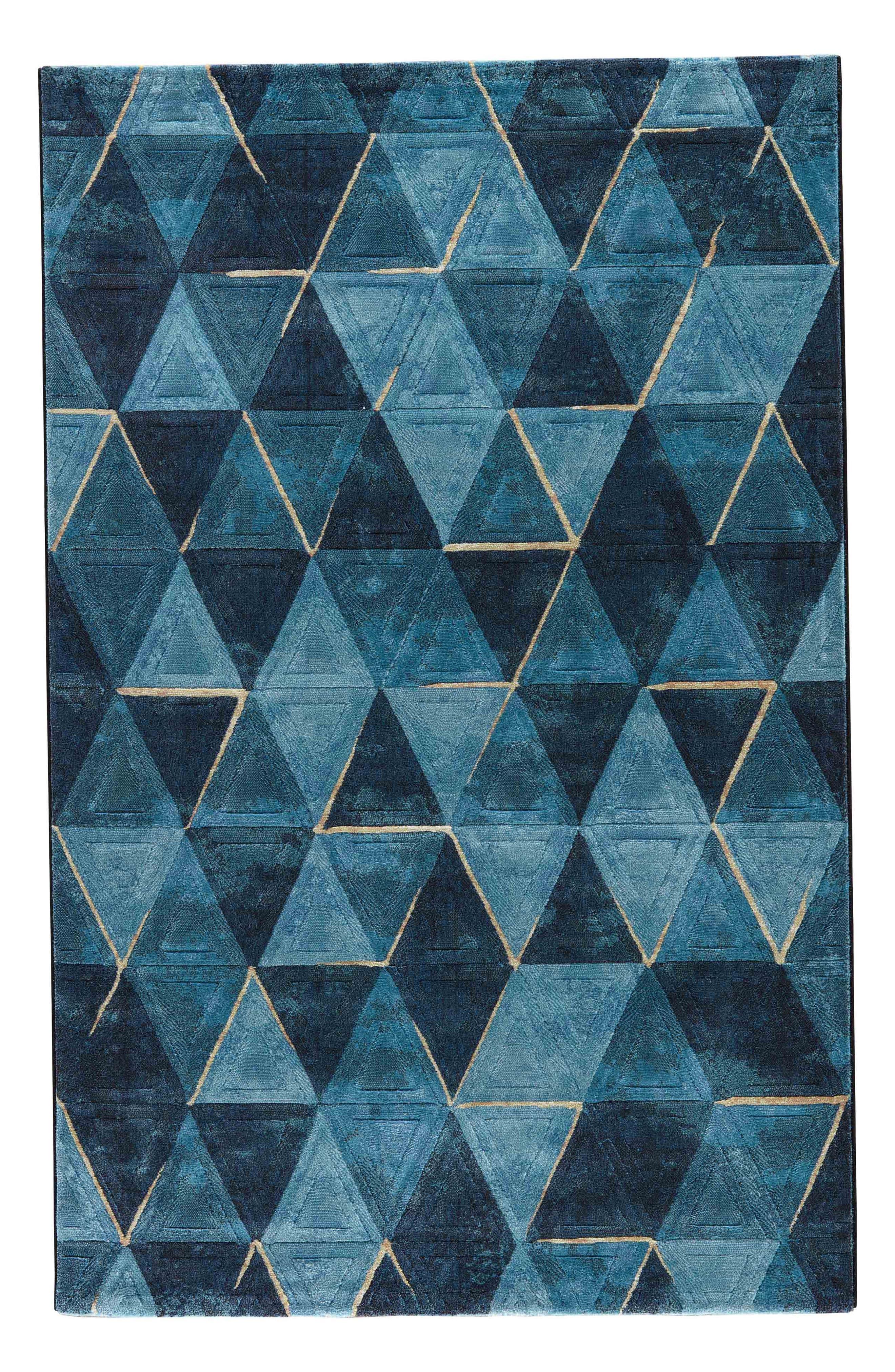 JAIPUR, Dash Rug, Main thumbnail 1, color, NAVY BLUE