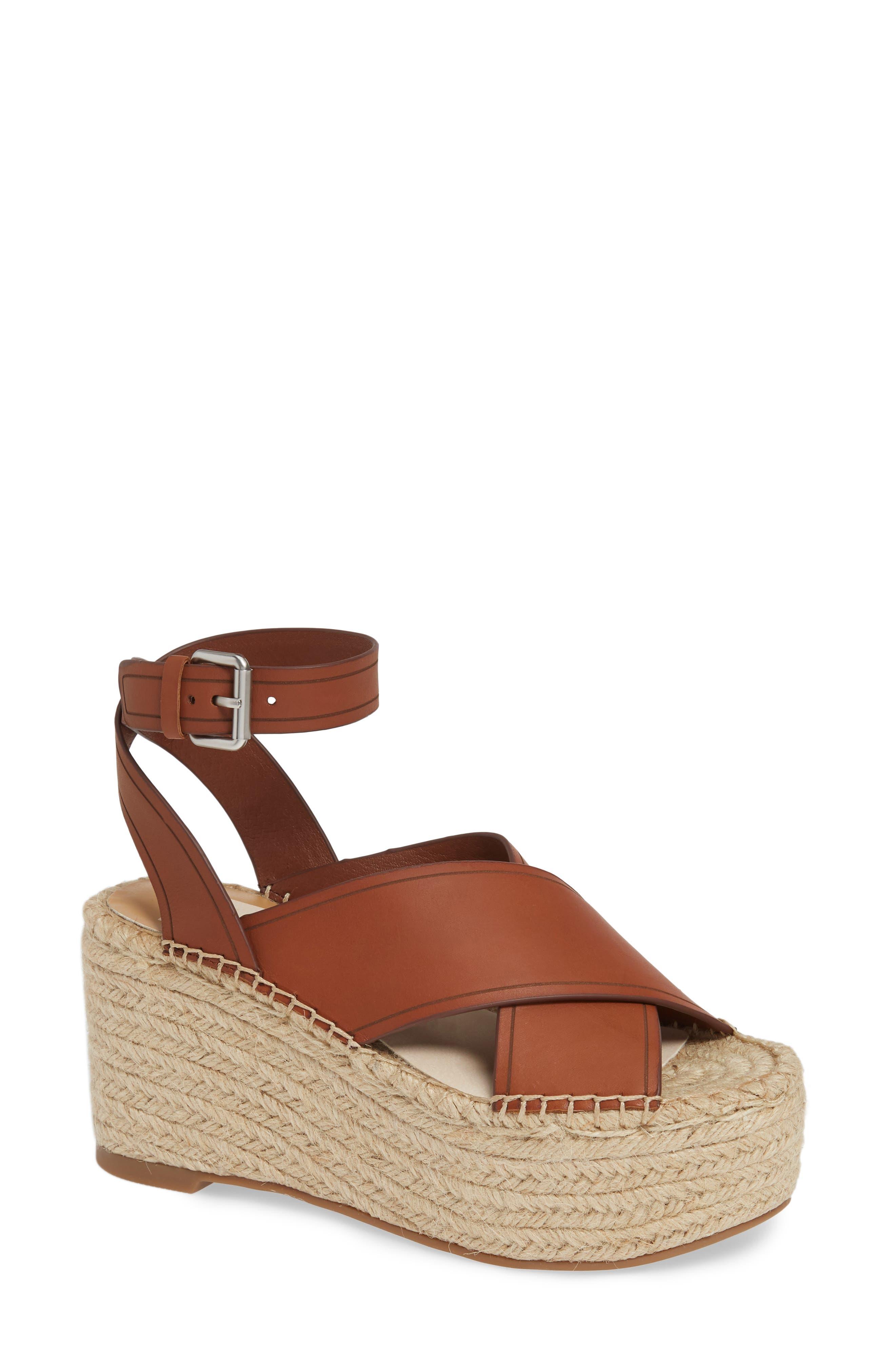 DOLCE VITA, Carsie Platform Sandal, Main thumbnail 1, color, BROWN LEATHER