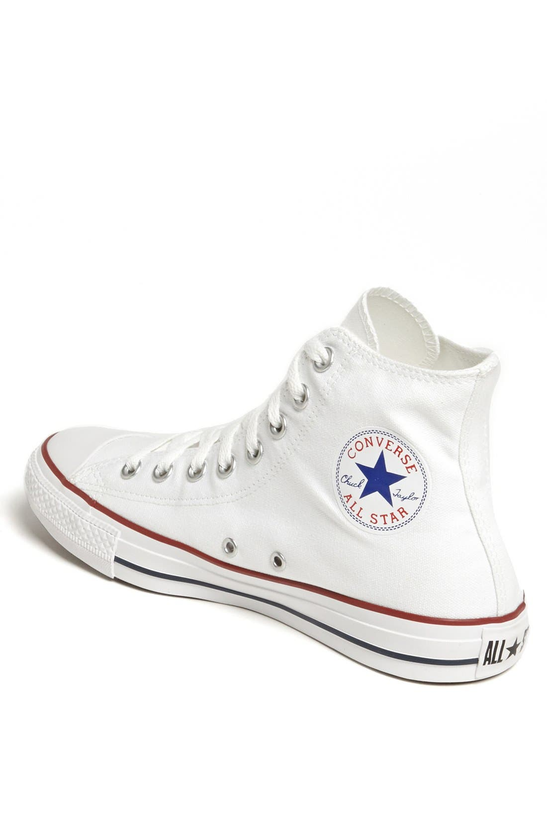 CONVERSE, Chuck Taylor<sup>®</sup> High Top Sneaker, Alternate thumbnail 3, color, OPTIC WHITE
