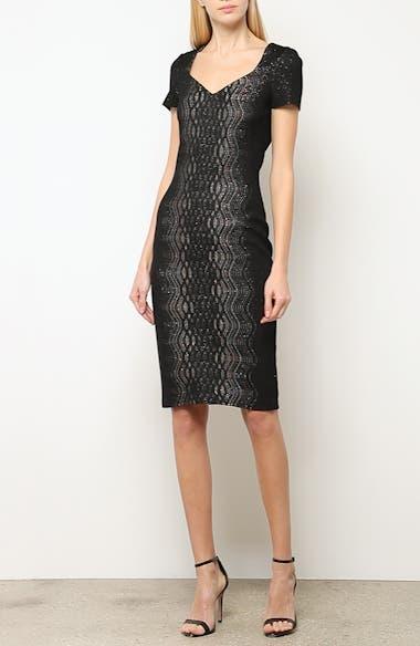 Illusion Jacquard Knit Dress, video thumbnail