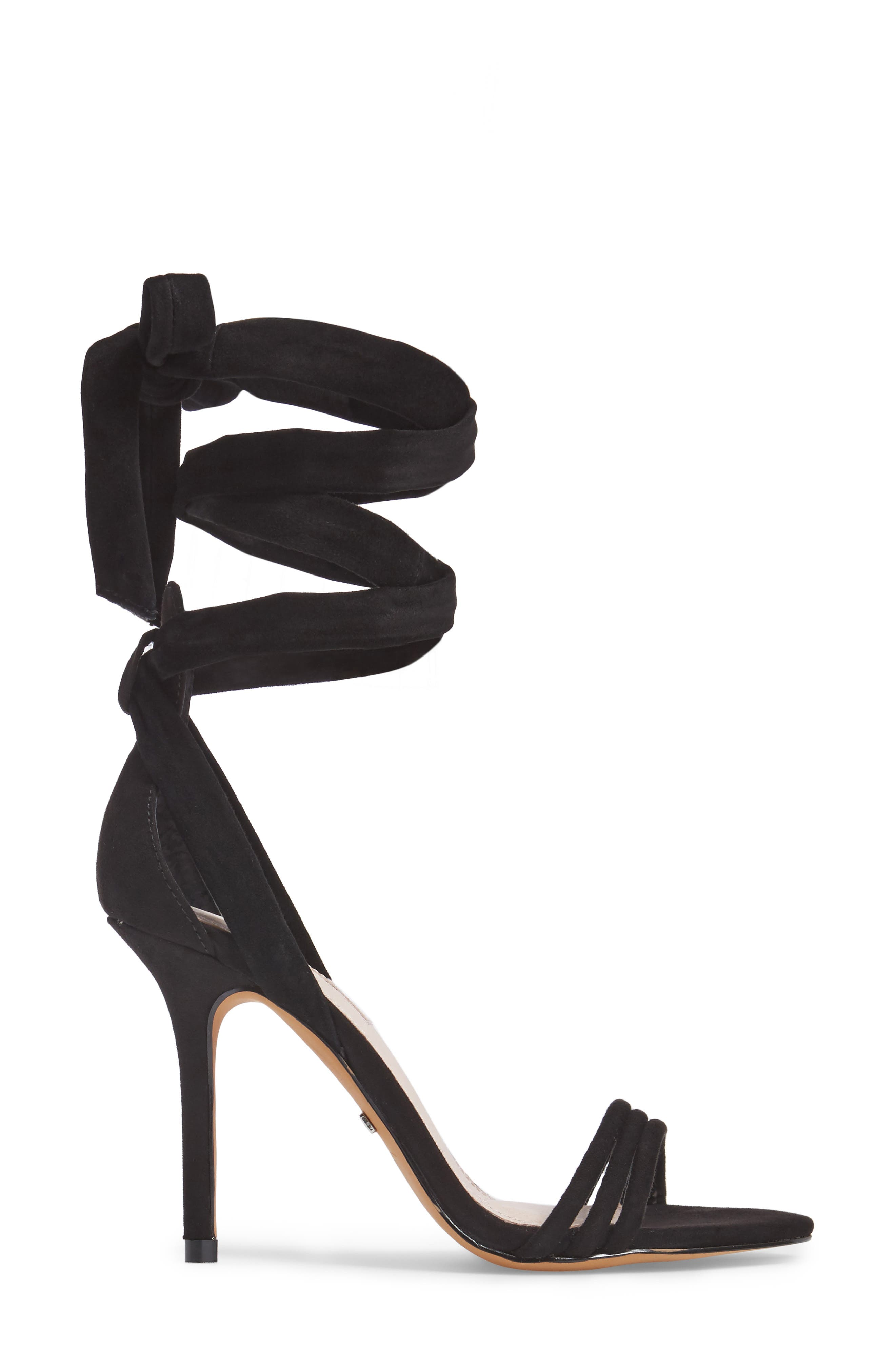 TOPSHOP, Ramona Ankle Wrap Sandal, Alternate thumbnail 3, color, 001