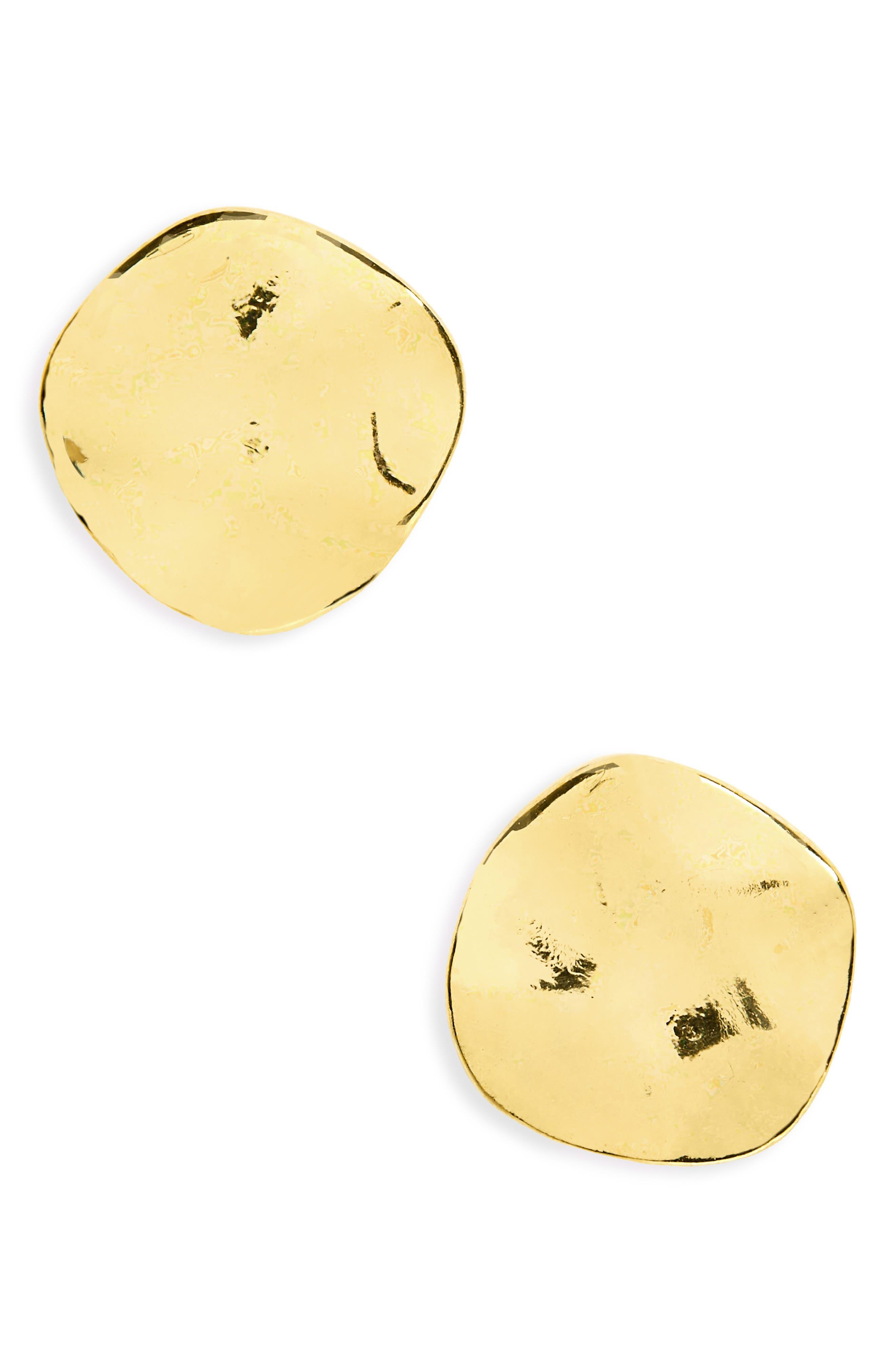 GORJANA, 'Chloe' Small Stud Earrings, Main thumbnail 1, color, GOLD