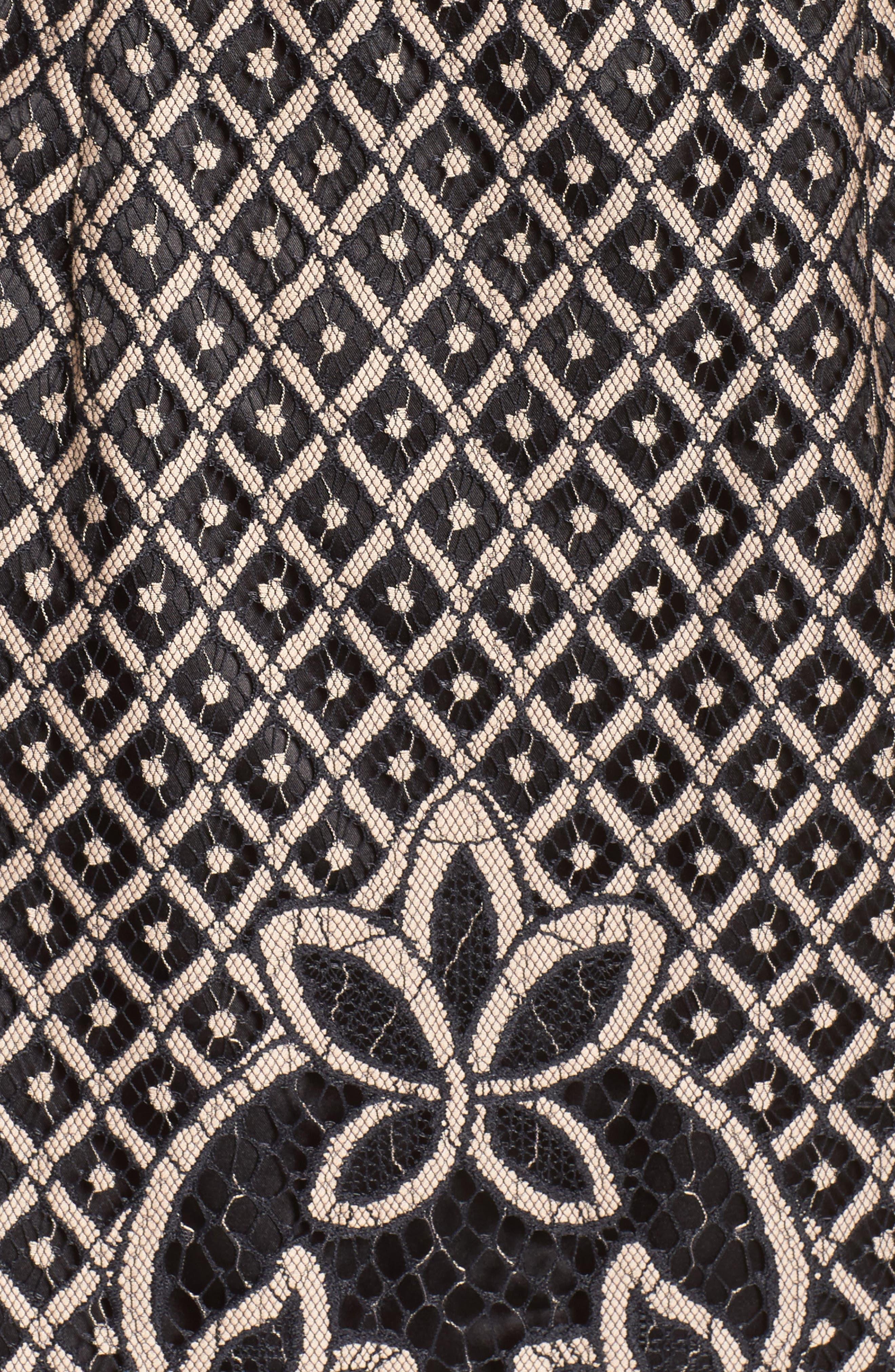 ELIZA J, Lace Sheath Dress, Alternate thumbnail 7, color, 009