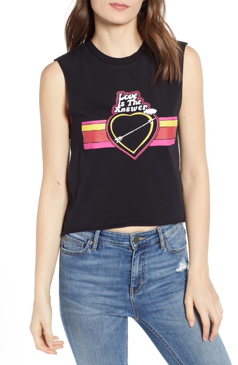 Pam & Gela Tops LOVE IS THE ANSWER LOGO TEE