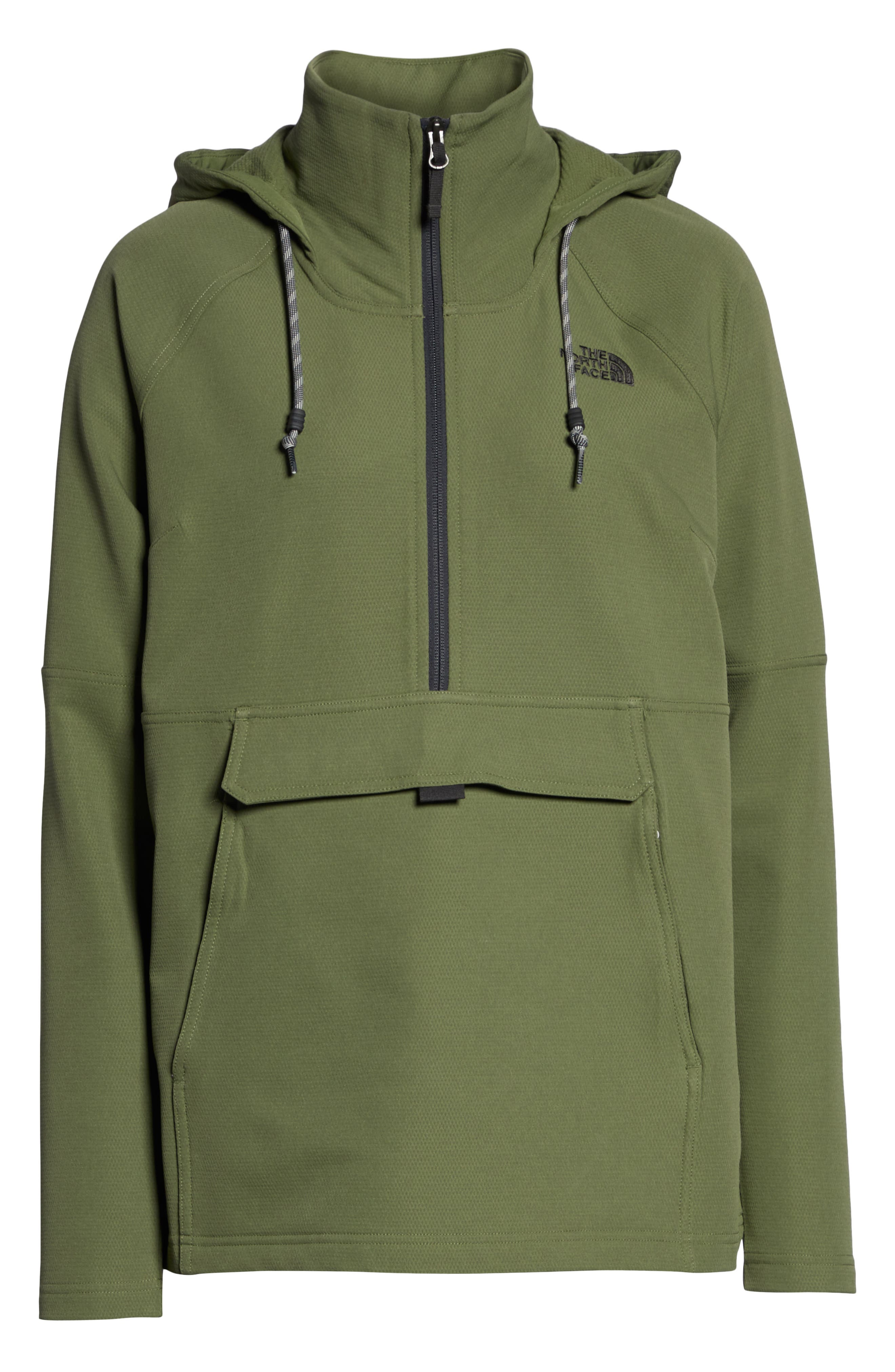 THE NORTH FACE, Tekno Ridge Hoodie, Alternate thumbnail 6, color, FOUR LEAF CLOVER