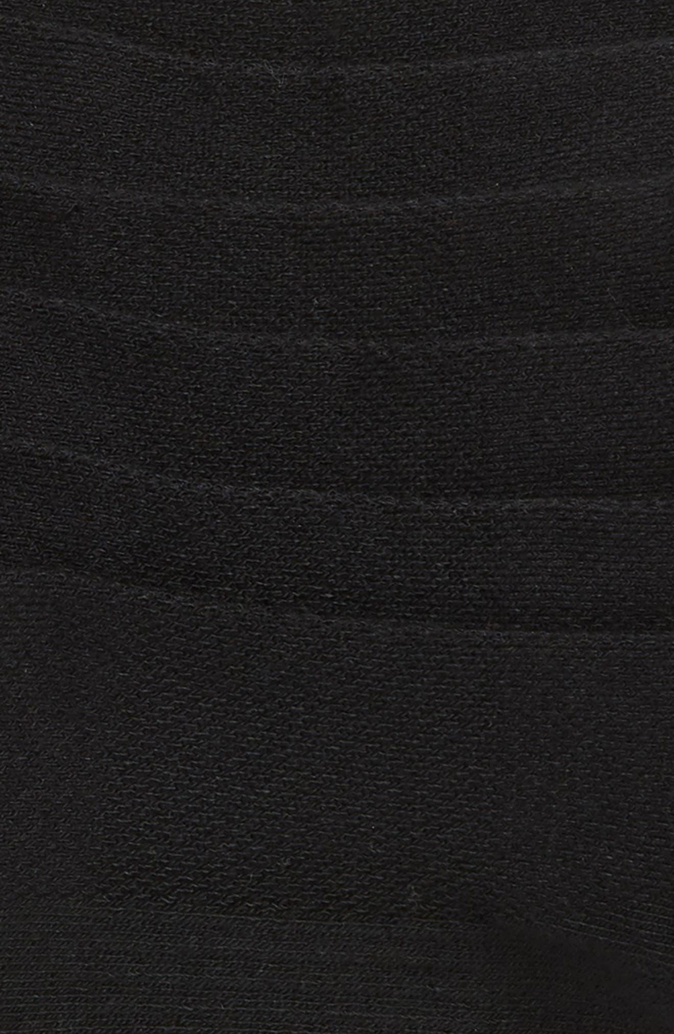 ZELLA, 3-Pack Double Tab Running Socks, Alternate thumbnail 2, color, BLACK