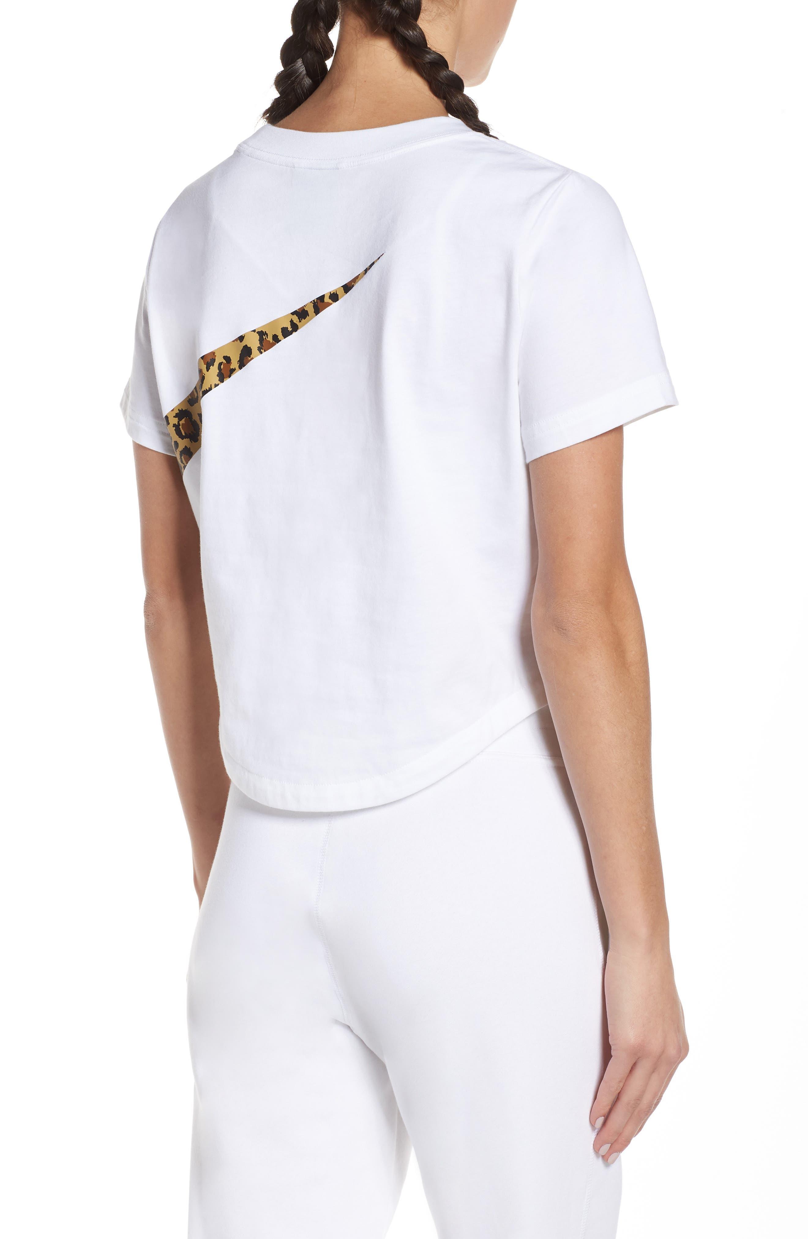 NIKE, Sportswear Women's Crop Top, Alternate thumbnail 2, color, WHITE