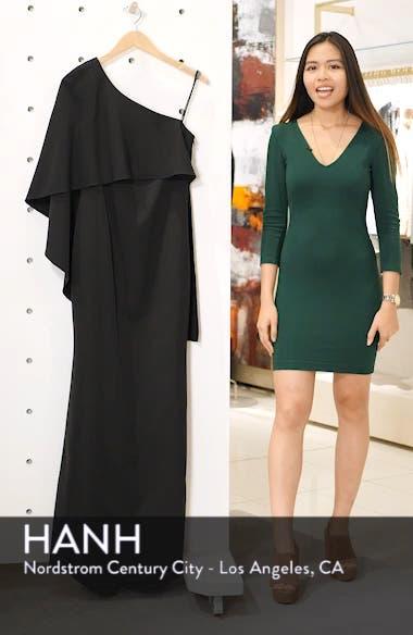 One-Shoulder Cape Evening Dress, sales video thumbnail