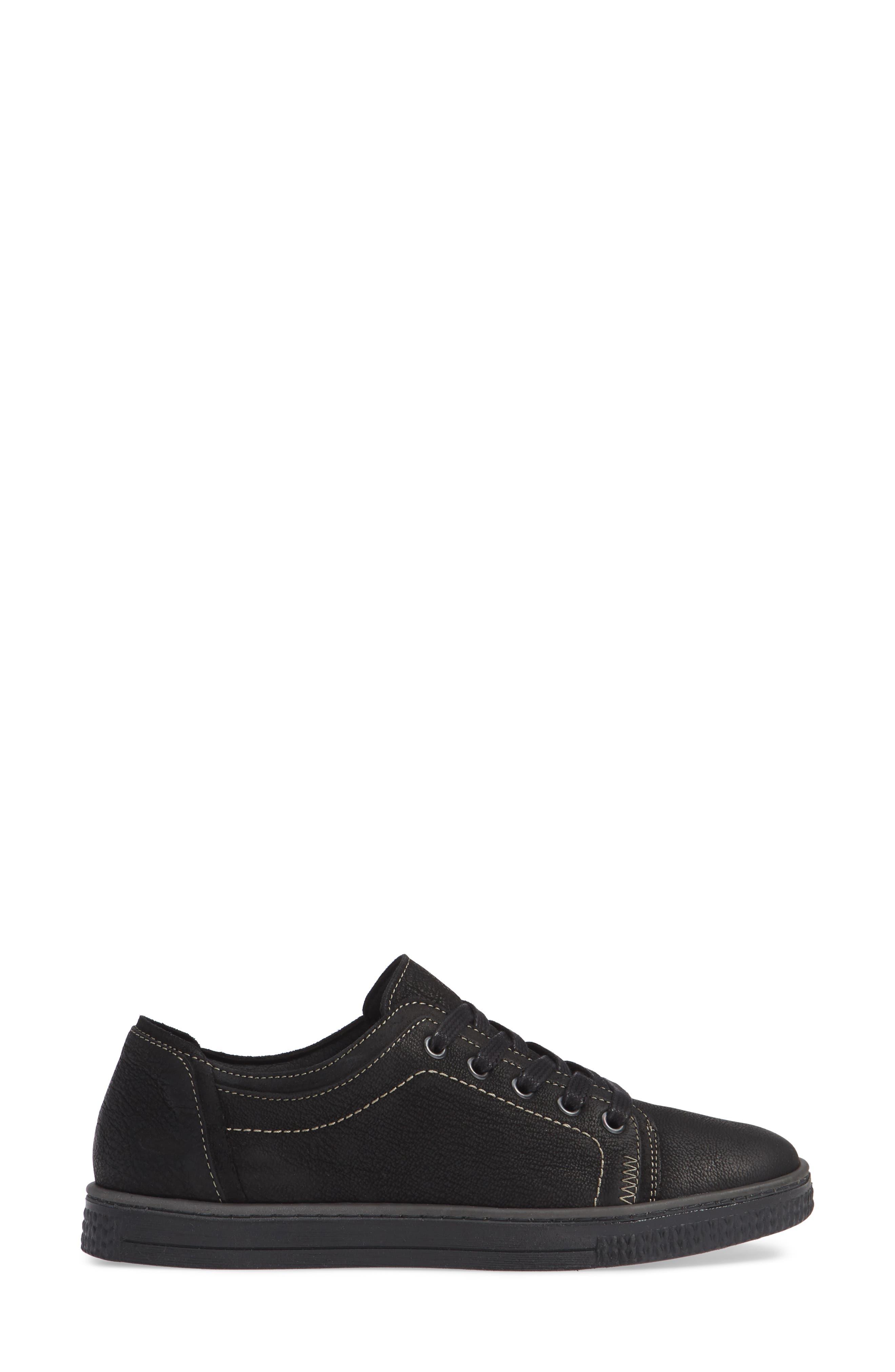 CLOUD, Nagano Low Top Sneaker, Alternate thumbnail 3, color, 001