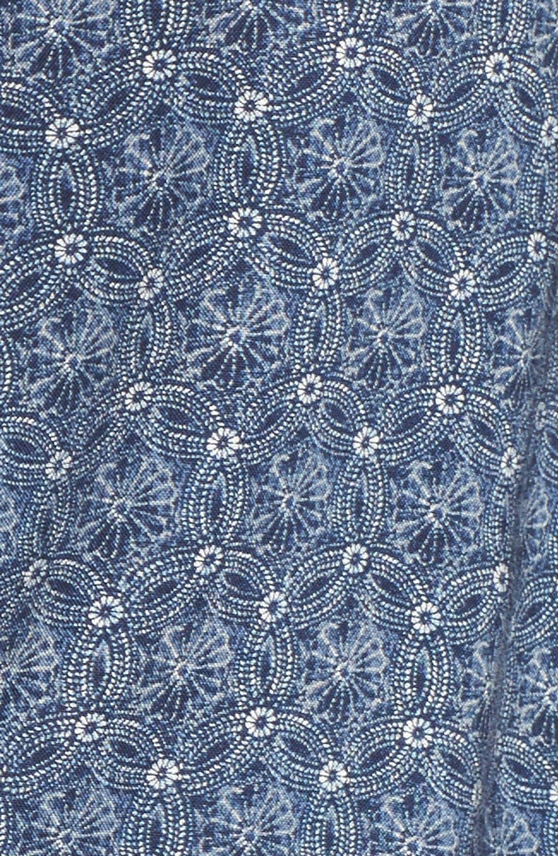 SANCTUARY, 'Naomi' Bell Sleeve Floral Print Romper, Alternate thumbnail 5, color, 460