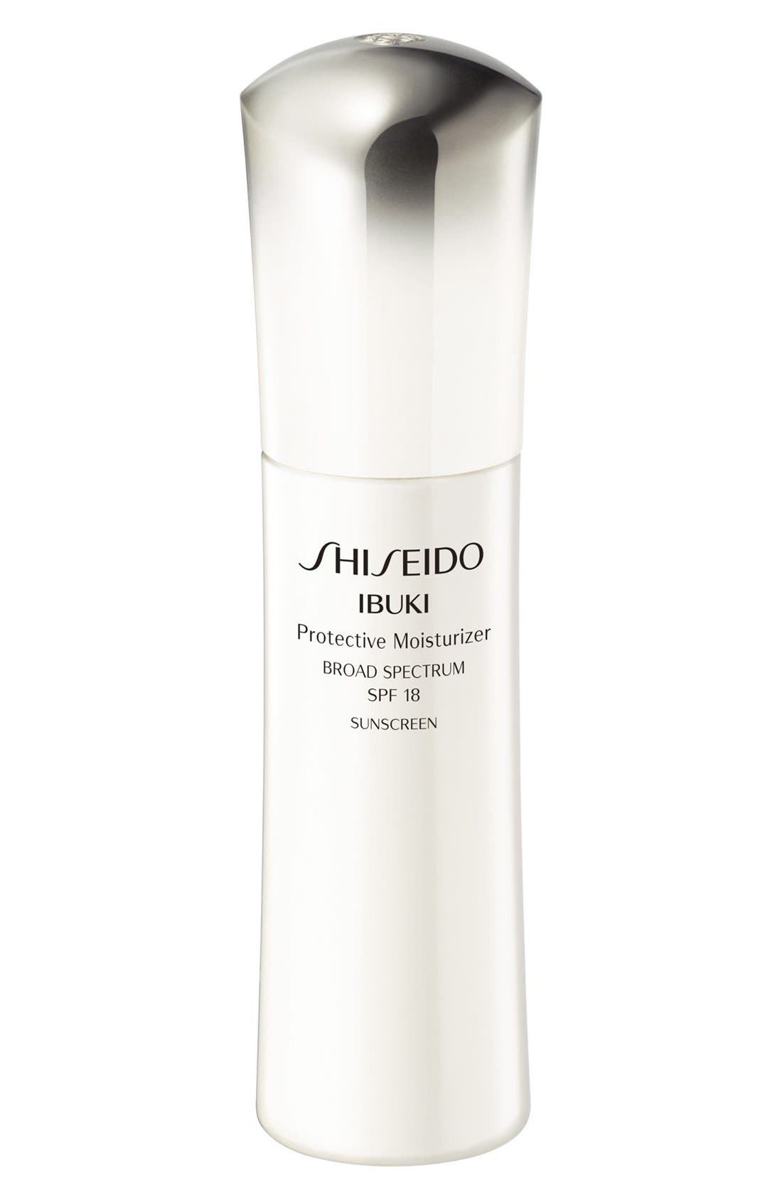 SHISEIDO, Ibuki Protective Moisturizer SPF 18, Main thumbnail 1, color, NO COLOR