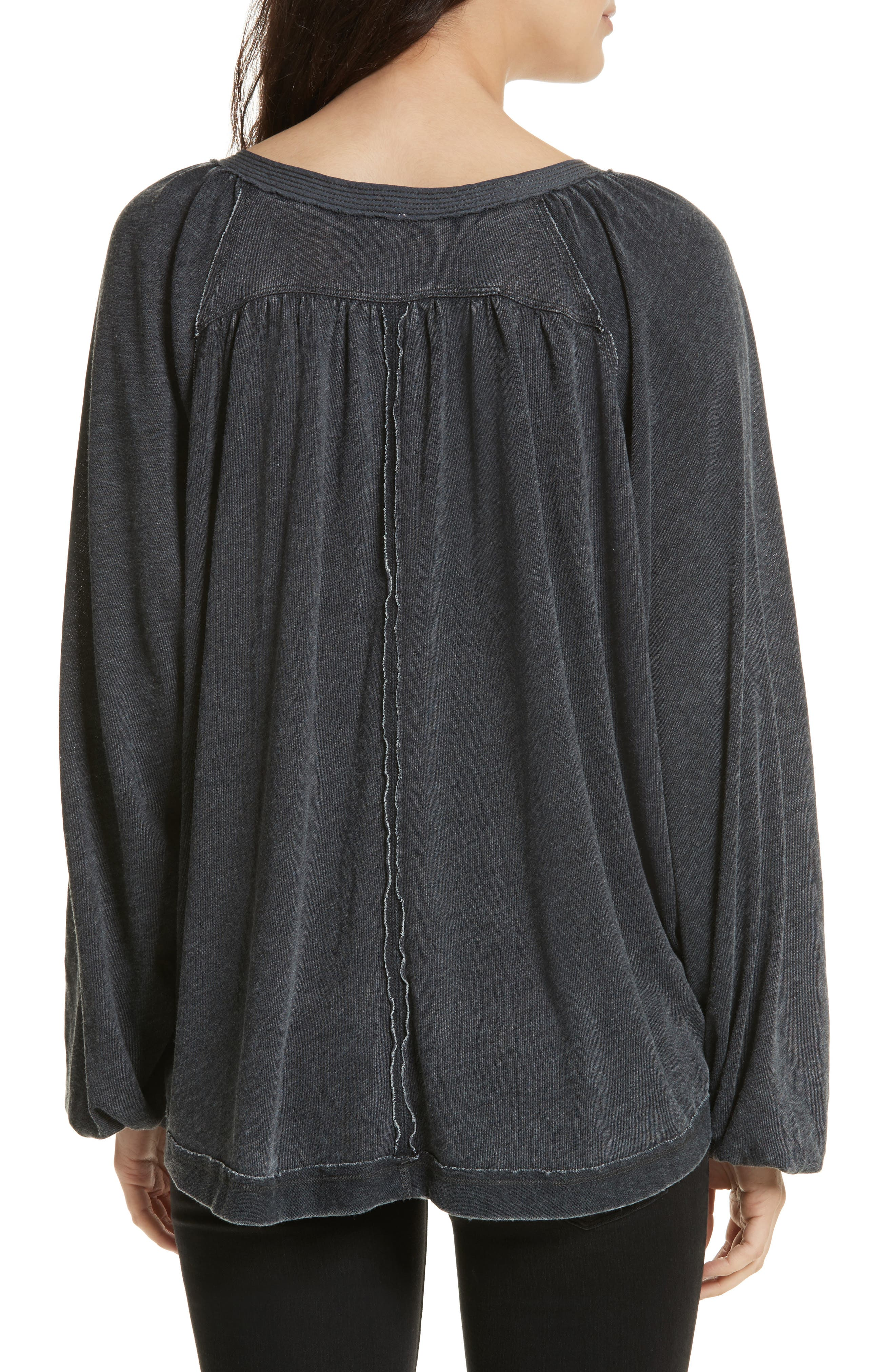 FREE PEOPLE, Acadia Henley Top, Alternate thumbnail 2, color, 001