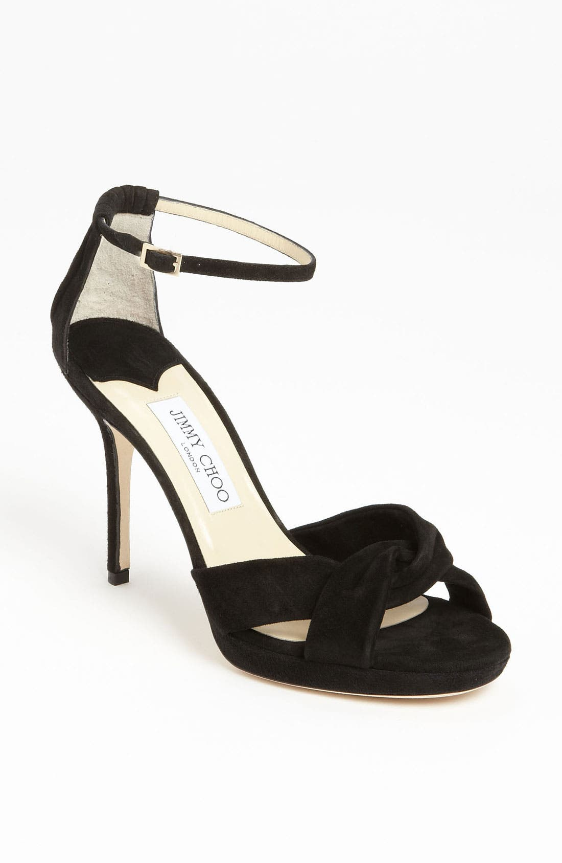 JIMMY CHOO, 'Marion' Sandal, Main thumbnail 1, color, 001