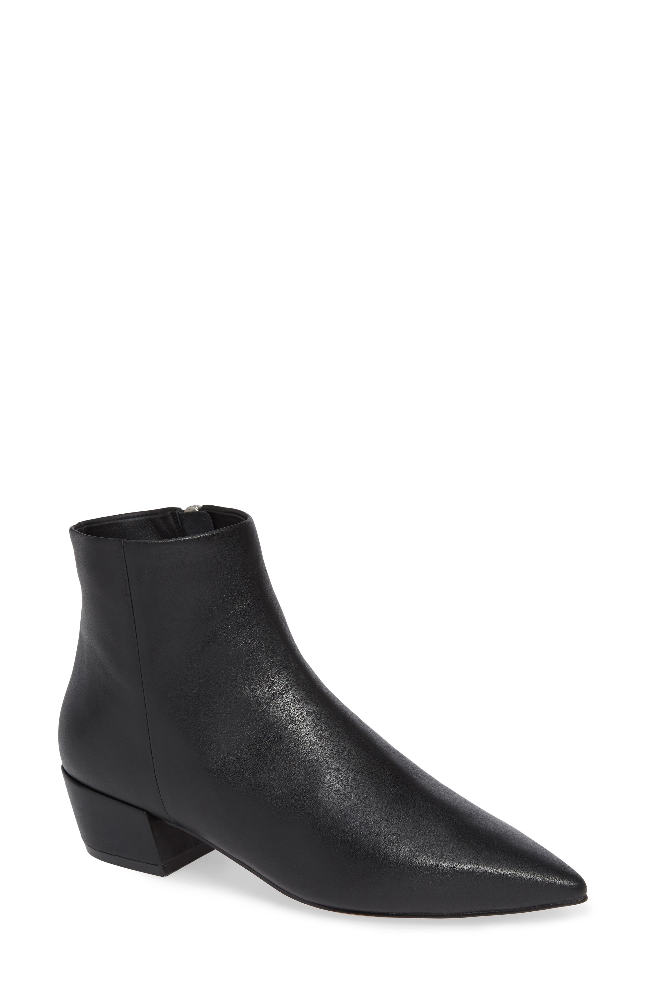 LINEA PAOLO Robyn Waterproof Boot, Main, color, BLACK LEATHER