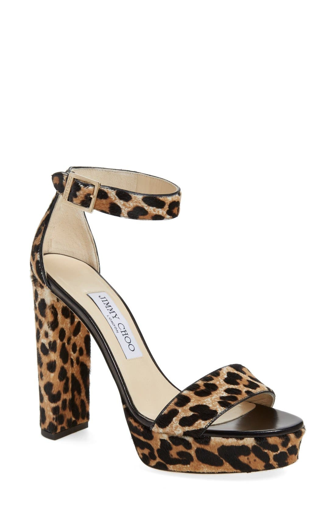 JIMMY CHOO, 'Holly' Ankle Strap Sandal, Main thumbnail 1, color, 200