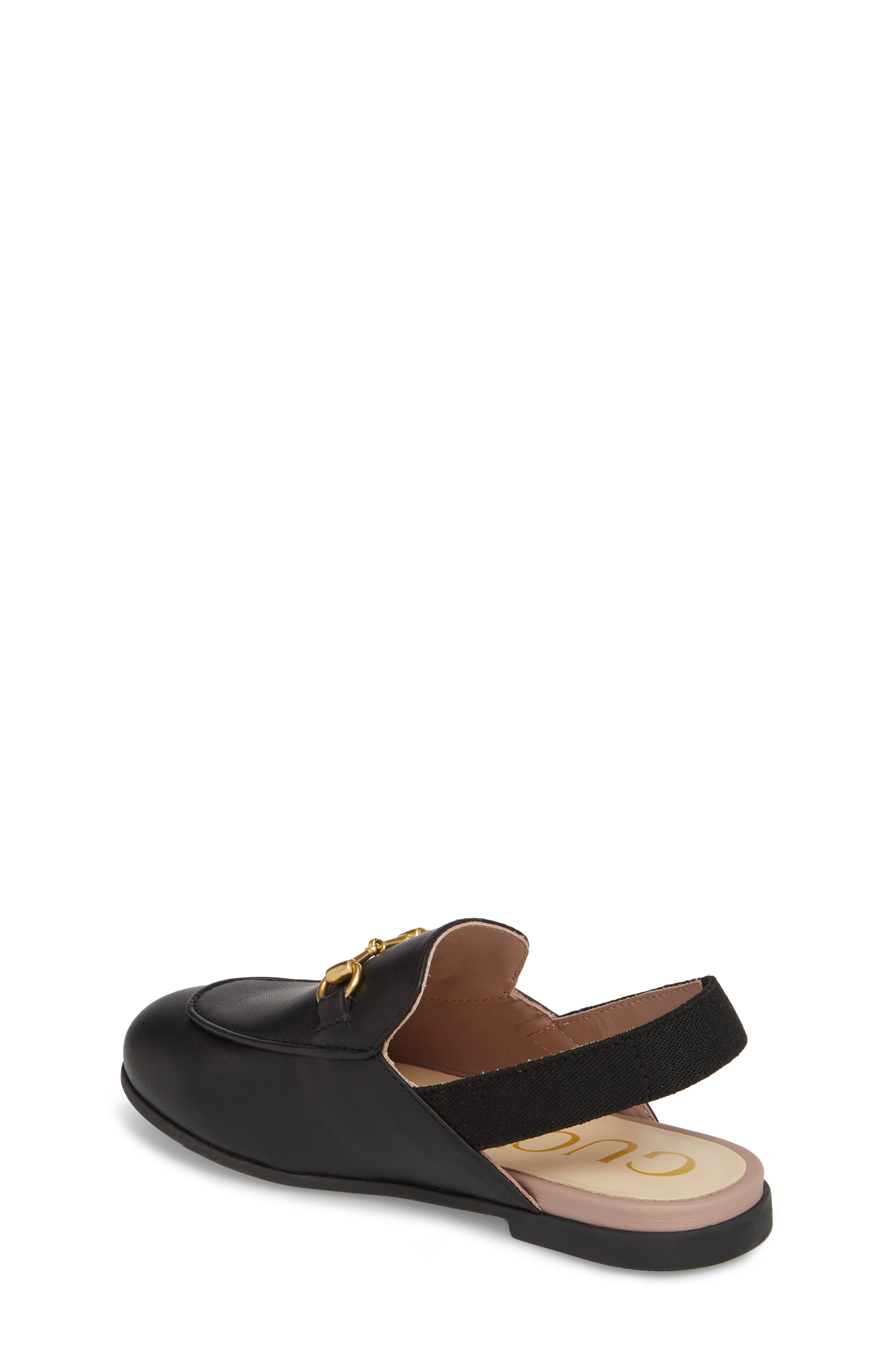 GUCCI, Princetown Loafer Mule, Alternate thumbnail 2, color, BLACK/ BLACK