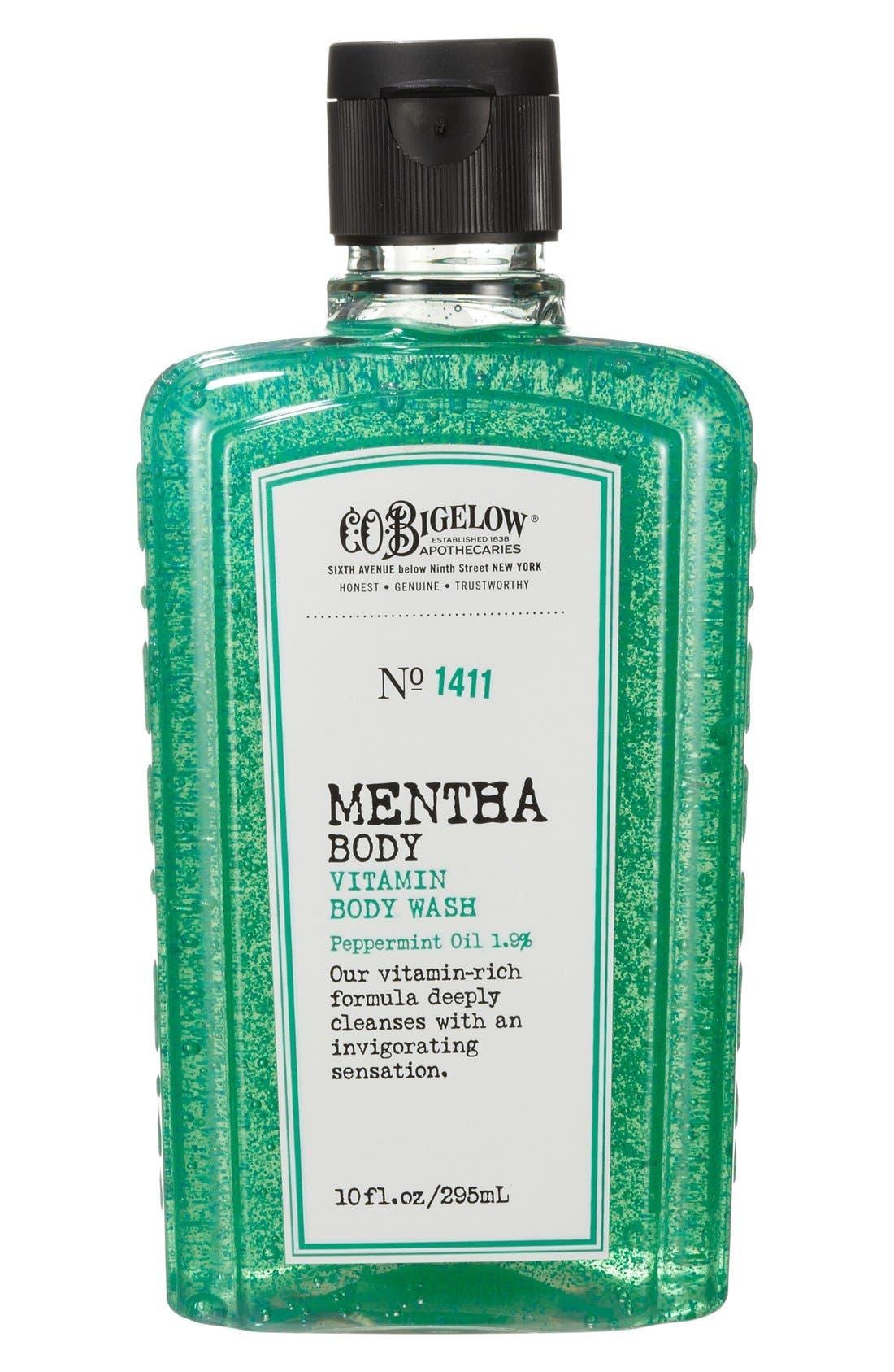 C.O. BIGELOW,  Mentha Body Vitamin Body Wash, Main thumbnail 1, color, 000