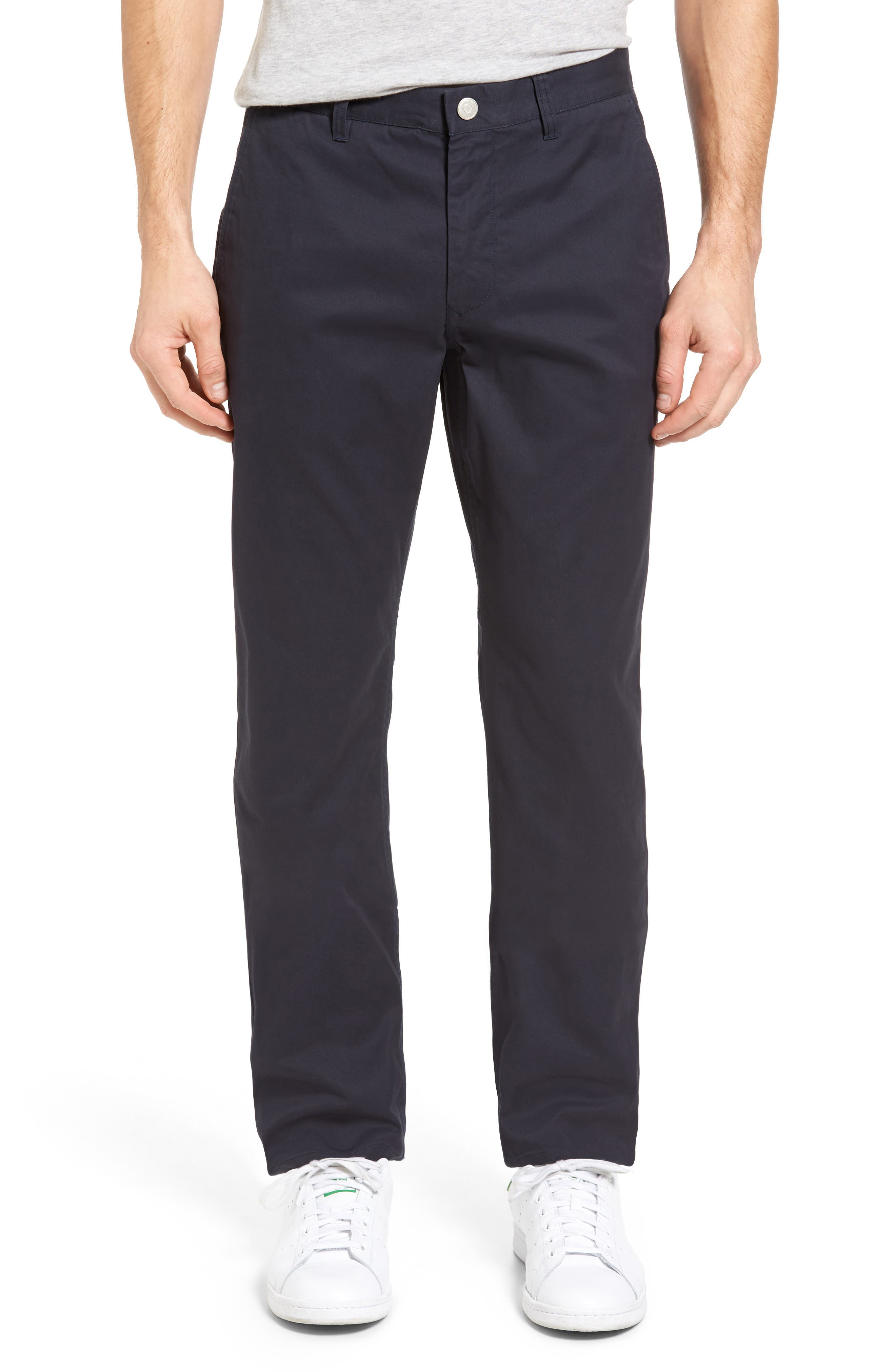 BONOBOS, Straight Fit Washed Chinos, Alternate thumbnail 2, color, JET BLUE