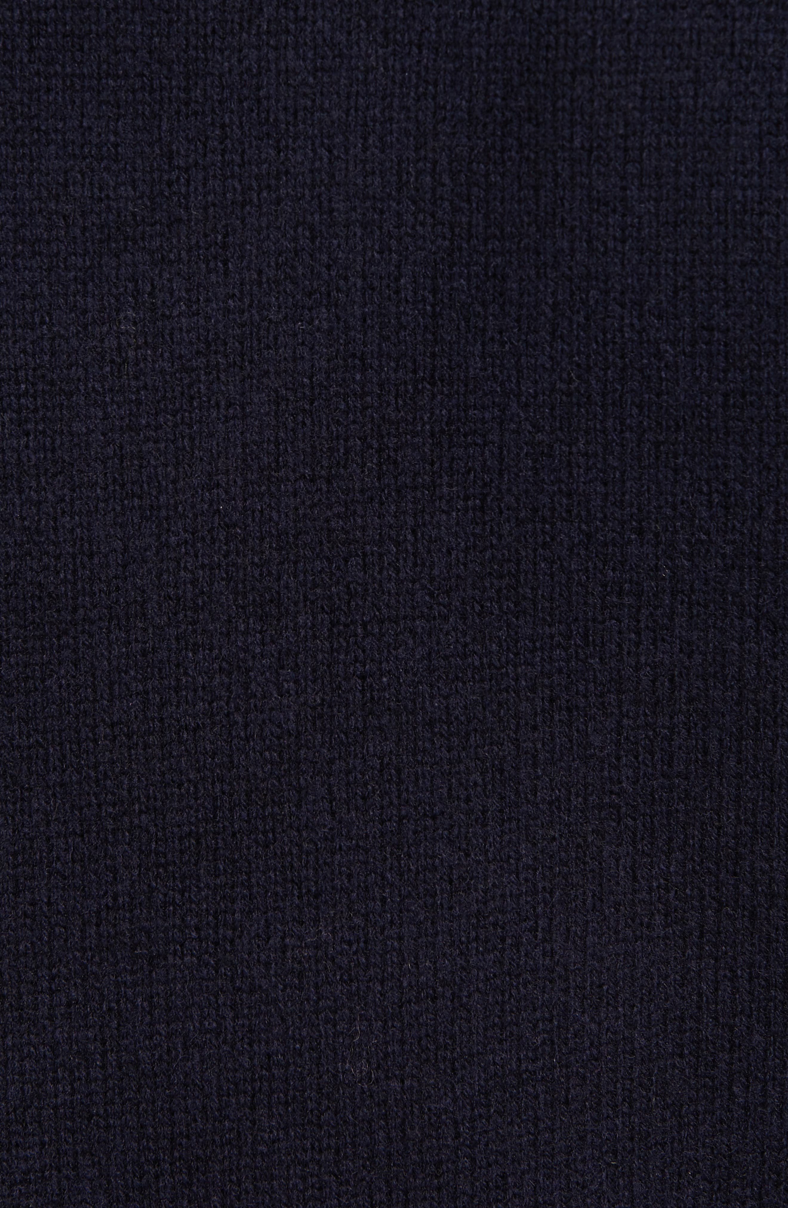 TED BAKER LONDON, Mock Two-Piece Sweater, Alternate thumbnail 5, color, NAVY
