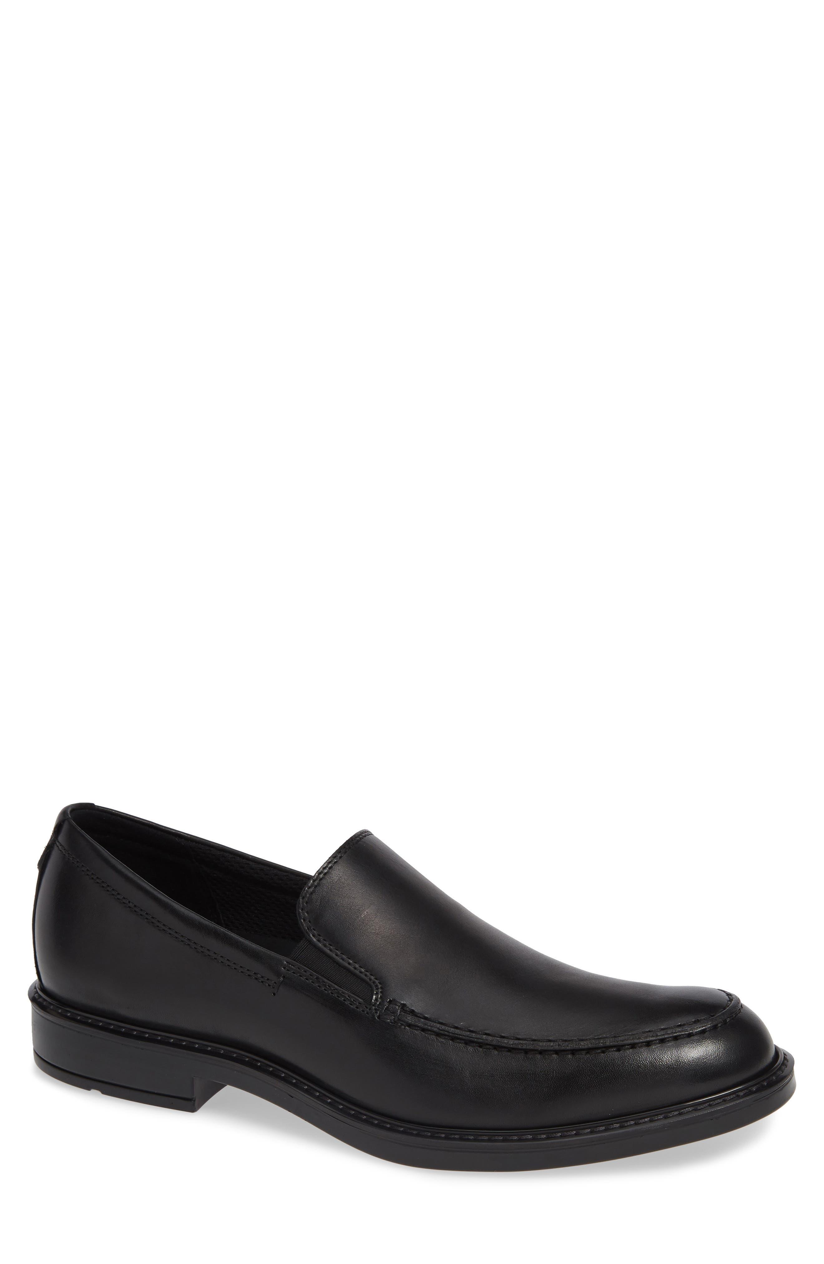 ECCO Vitrus<sup>™</sup> III Moc Toe Loafer, Main, color, BLACK LEATHER