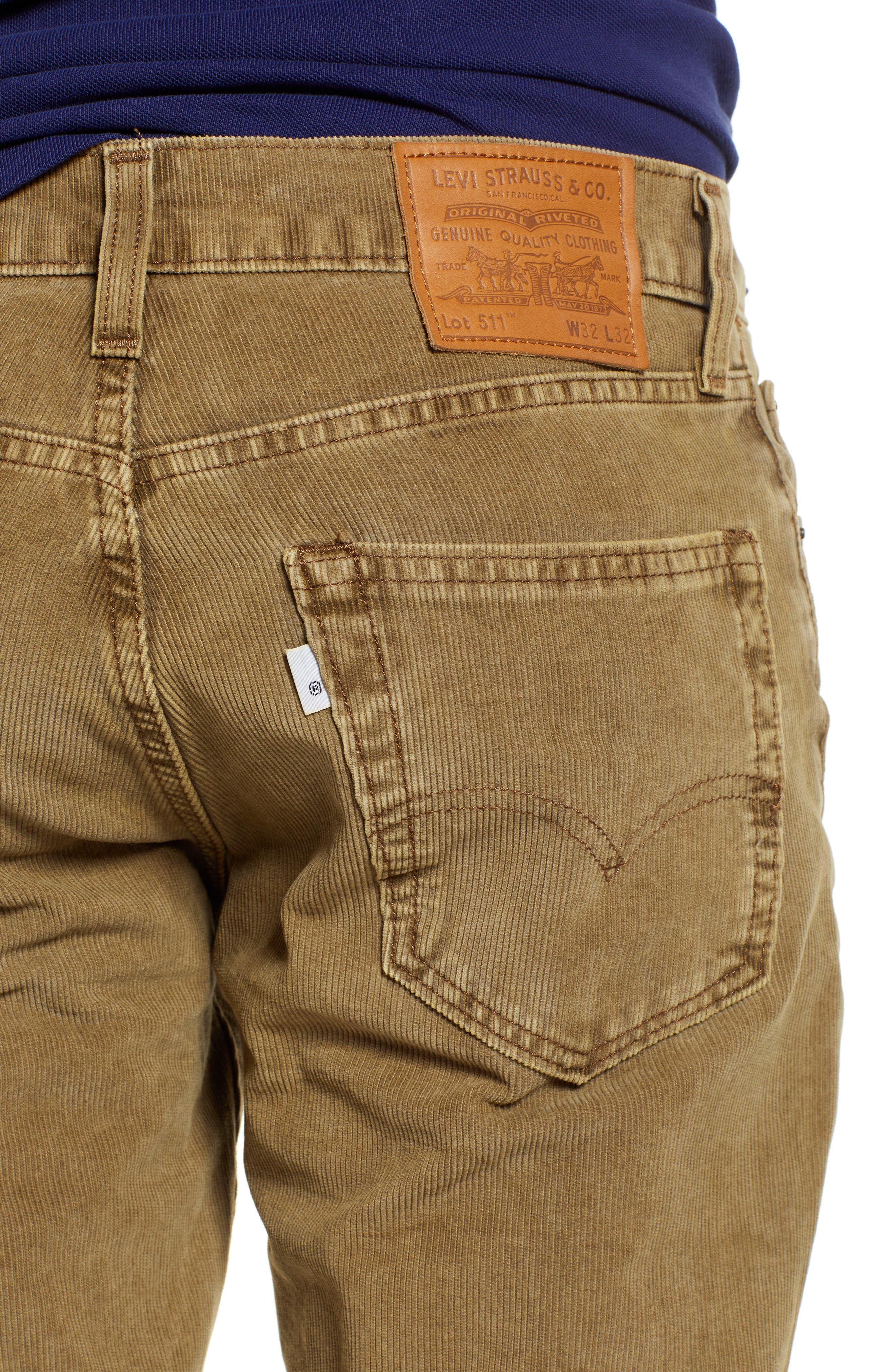 LEVI'S<SUP>®</SUP>, 511<sup>™</sup> Slim Fit Corduroy Pants, Alternate thumbnail 5, color, 240