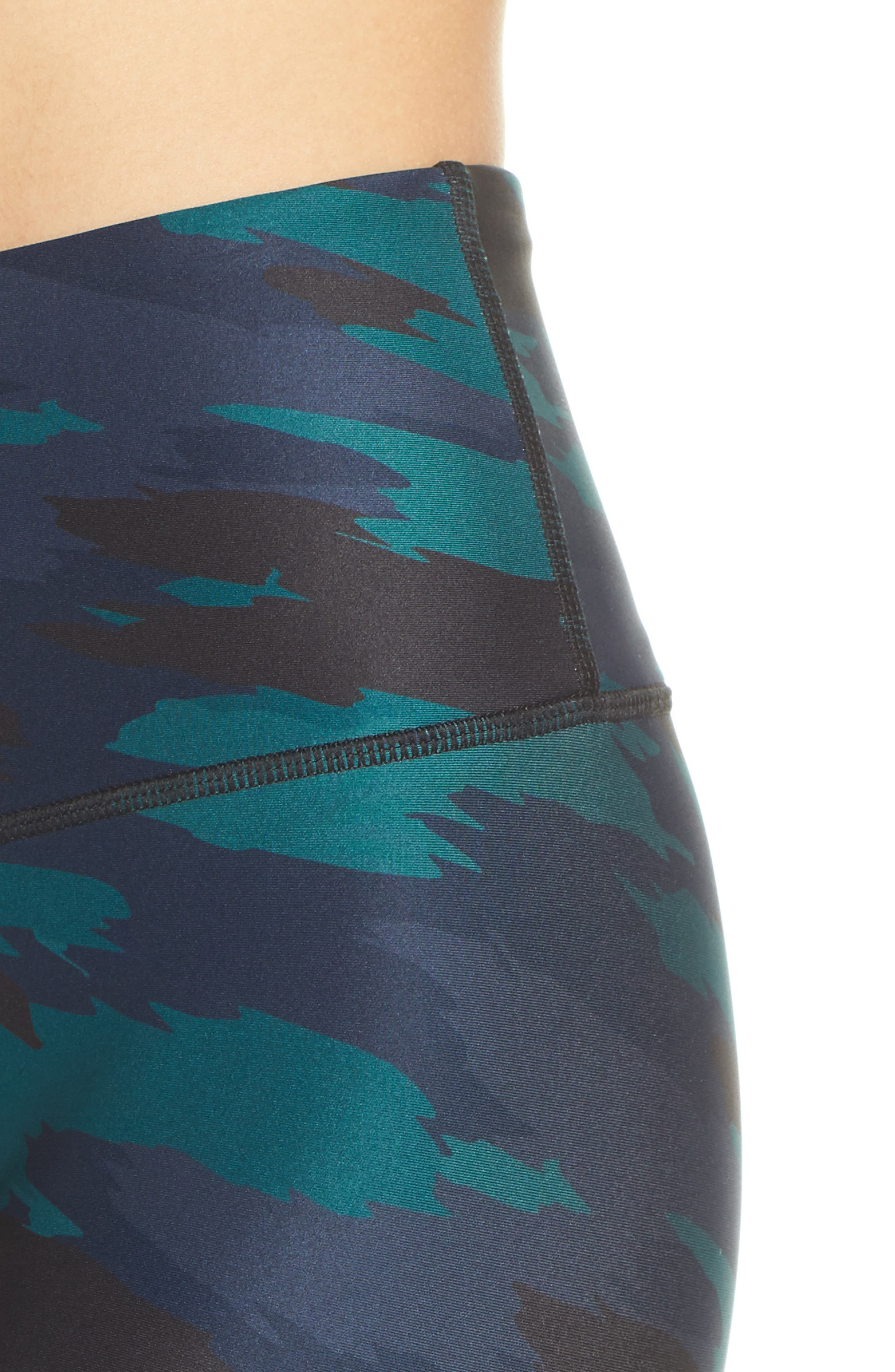 SOUL BY SOULCYCLE, High Waist Camo Tights, Alternate thumbnail 5, color, CAMO