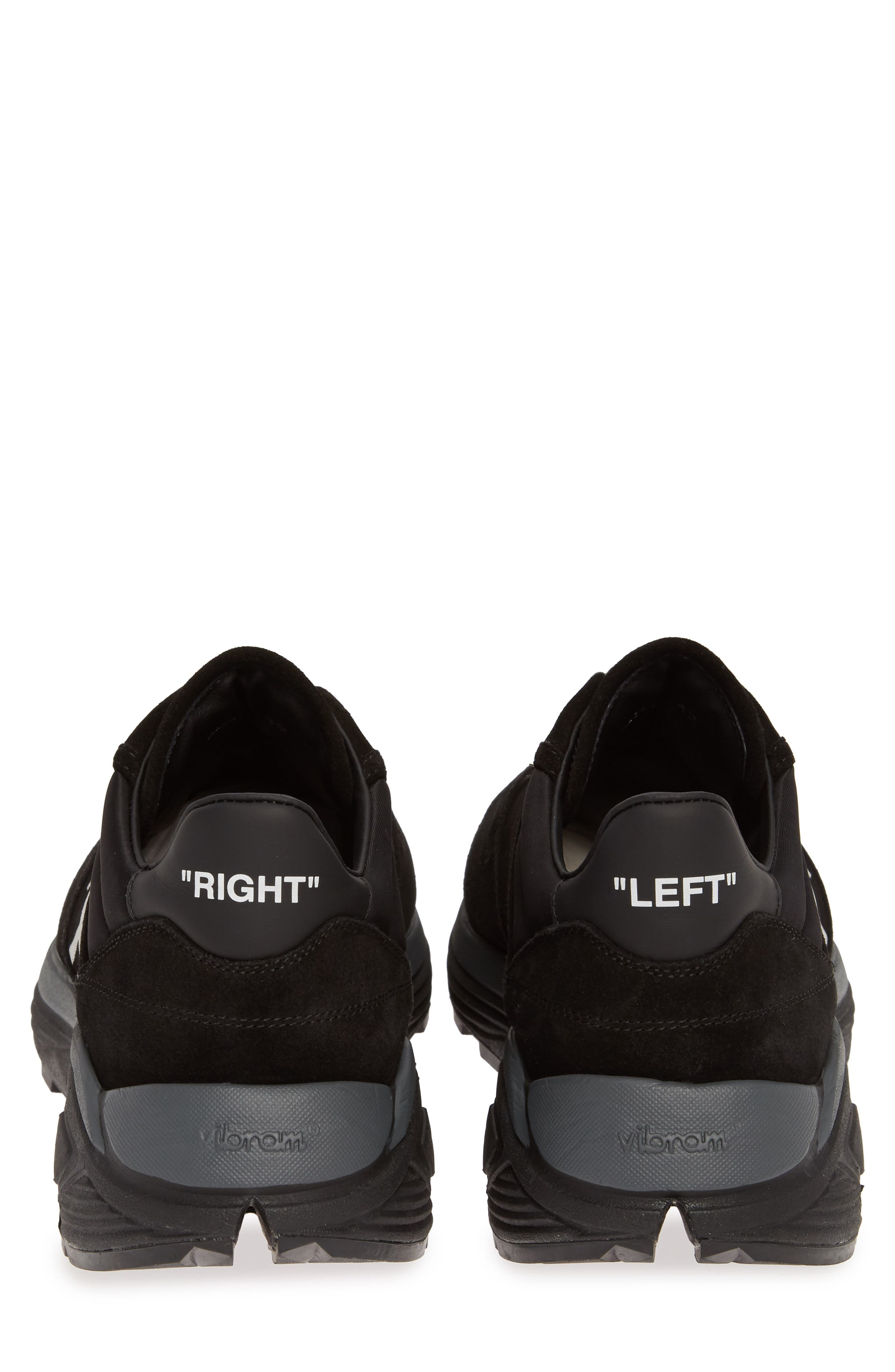 OFF-WHITE, Jogger Sneaker, Alternate thumbnail 7, color, BLACK/ WHITE