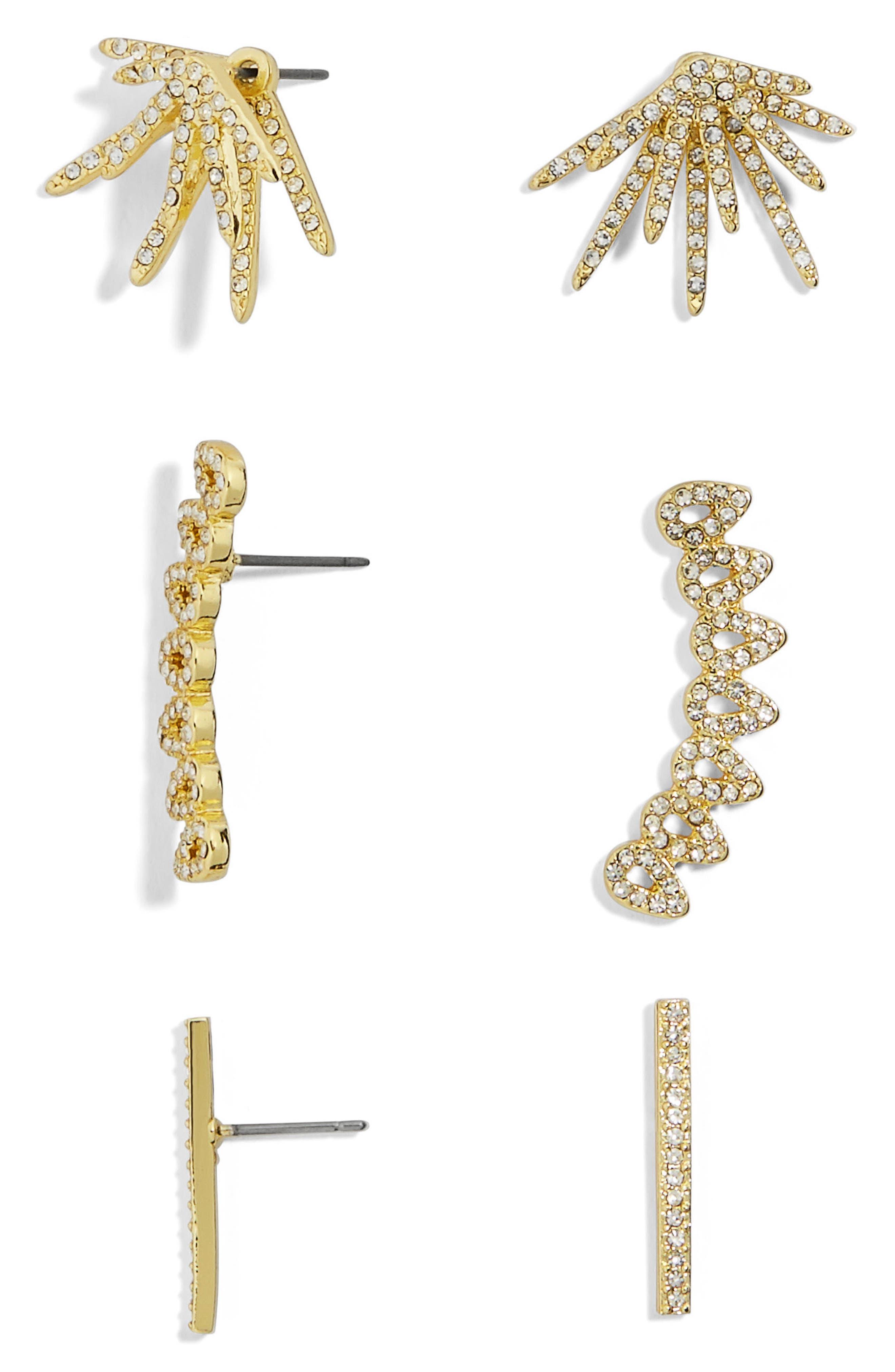 BAUBLEBAR Cesa Trio Earrings Set, Main, color, 710