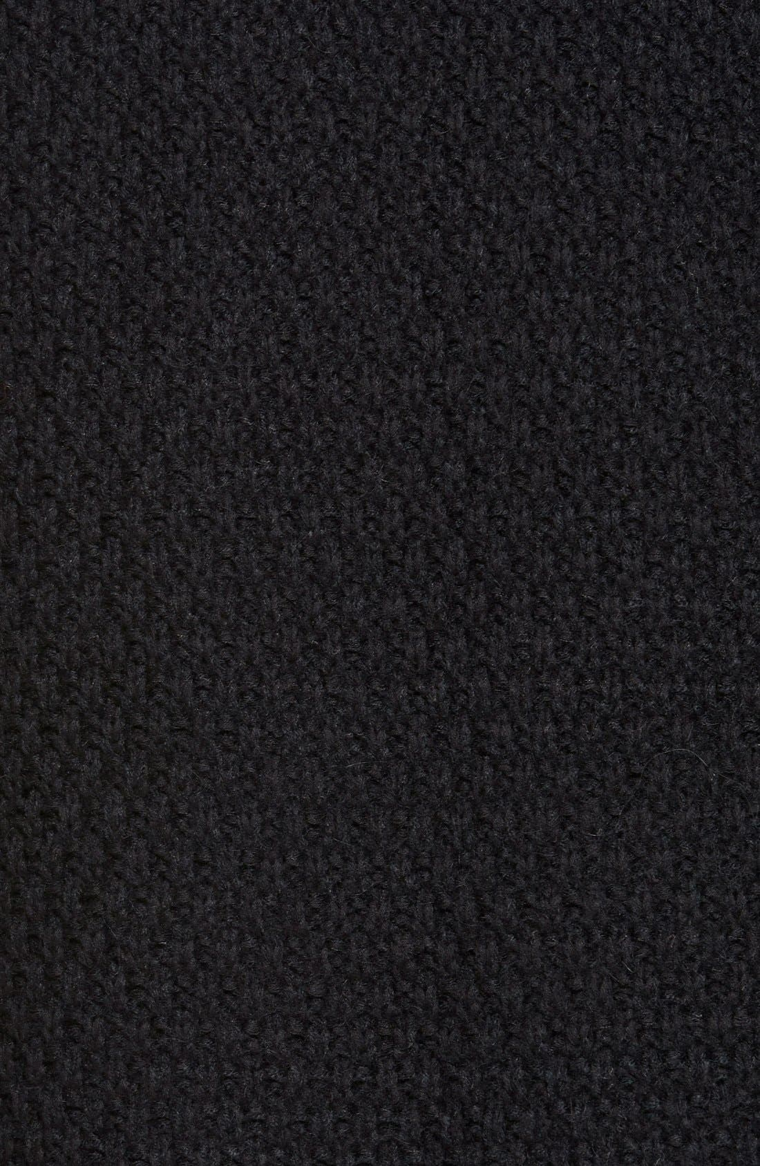 HINGE, Marled Long Open Front Cardigan, Alternate thumbnail 4, color, 001
