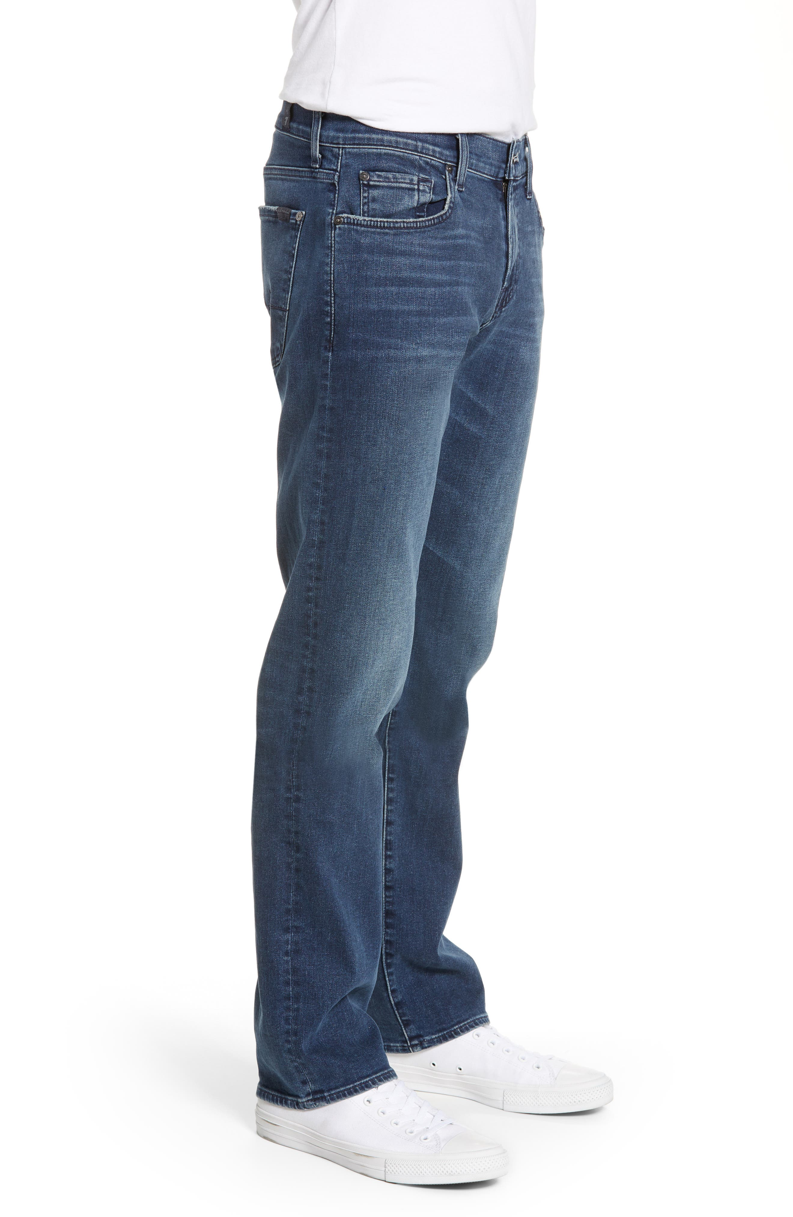 7 FOR ALL MANKIND<SUP>®</SUP>, Standard Straight Leg Jeans, Alternate thumbnail 3, color, INVINCIBLE