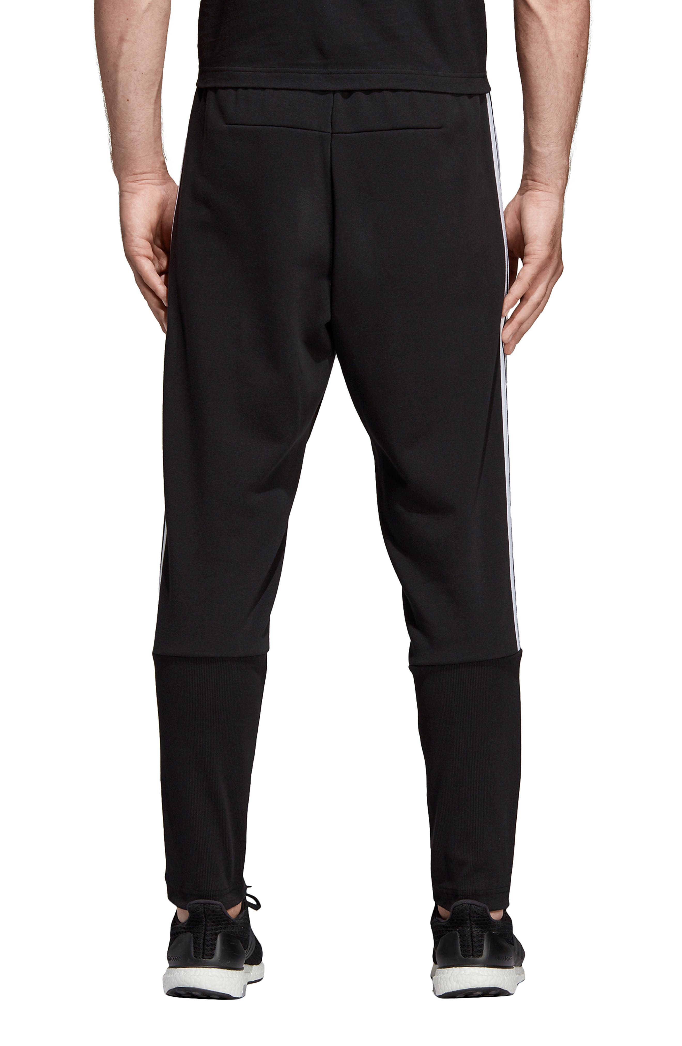 ADIDAS, MH 3S Tiro Sweatpants, Alternate thumbnail 2, color, BLACK/ WHITE