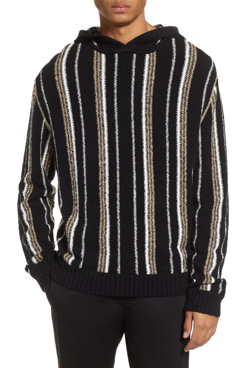 Atm Anthony Thomas Melillo Tops VERTICAL STRIPE HOODIE