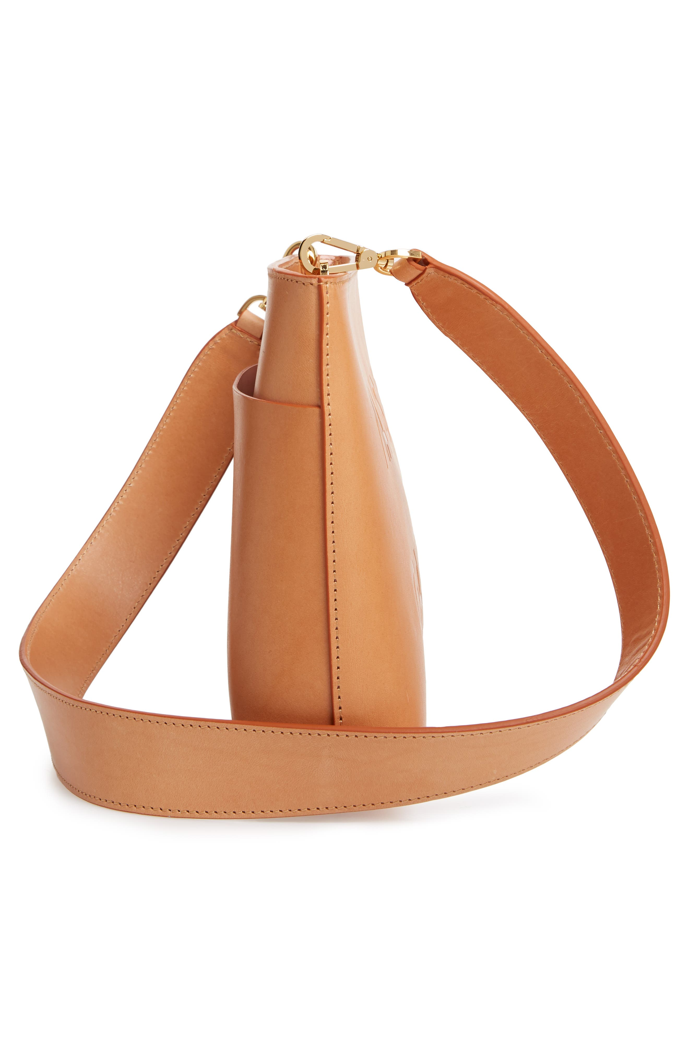 MANSUR GAVRIEL, Logo Leather Crossbody Bag, Alternate thumbnail 5, color, 250