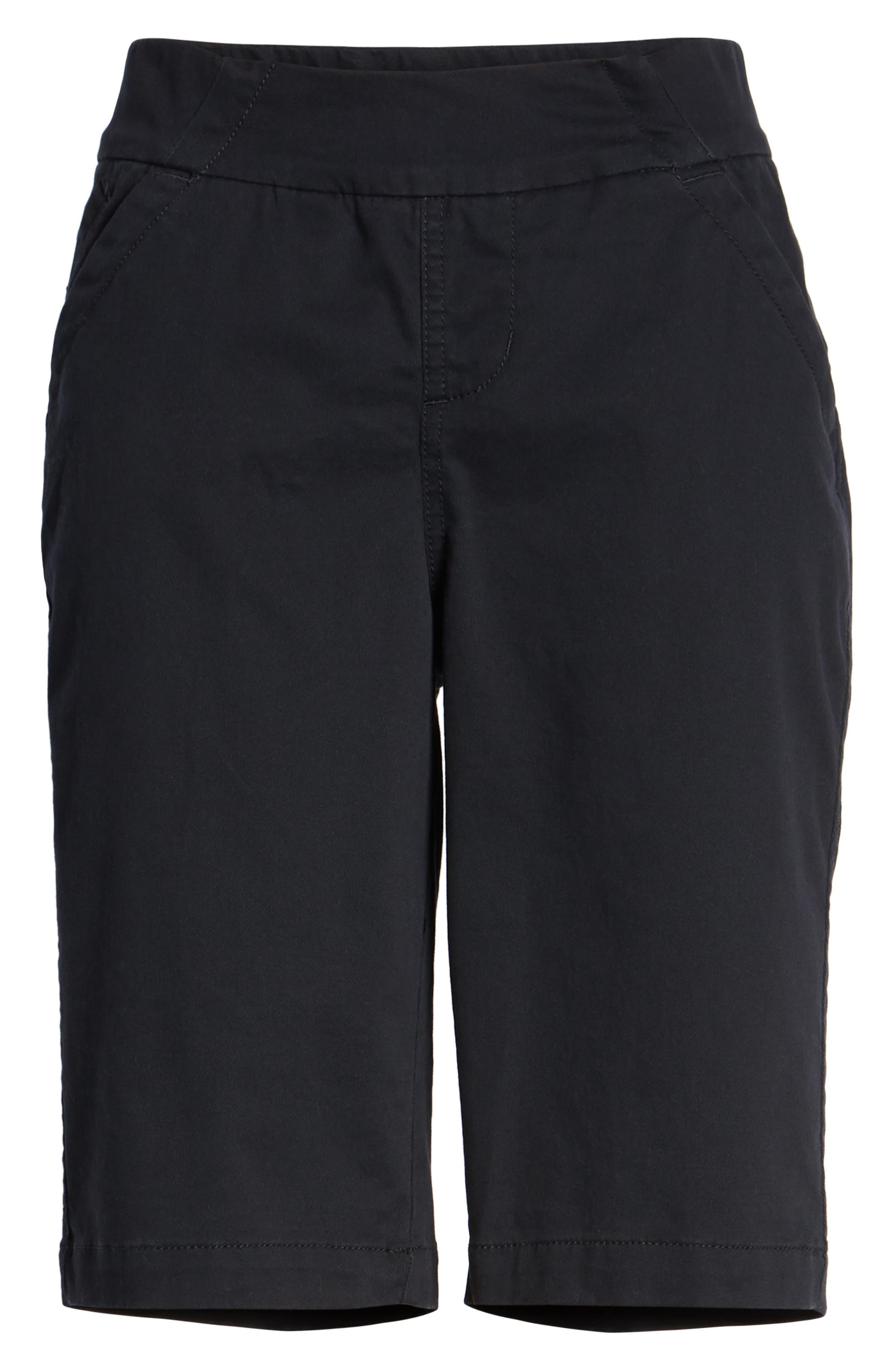JAG JEANS, Gracie Bermuda Shorts, Alternate thumbnail 7, color, BLACK